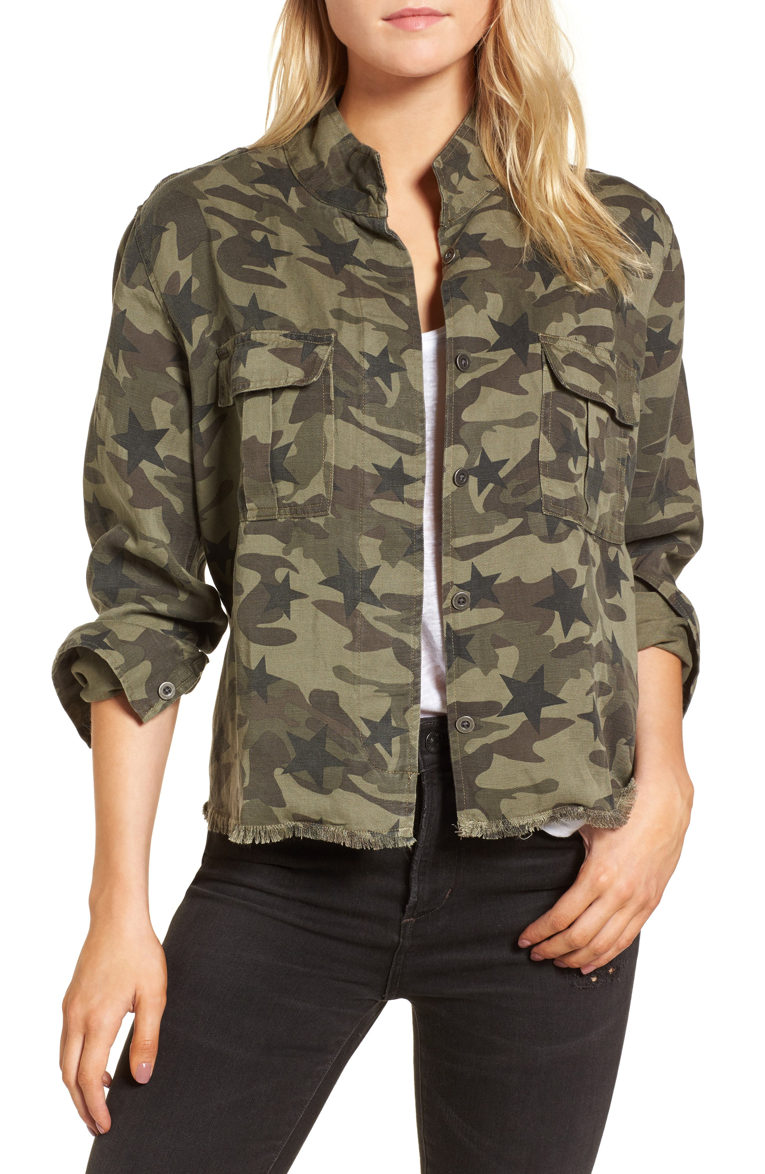 Hendrick Camo Military Jacket,                             Main thumbnail 1, color,                             Star Camo