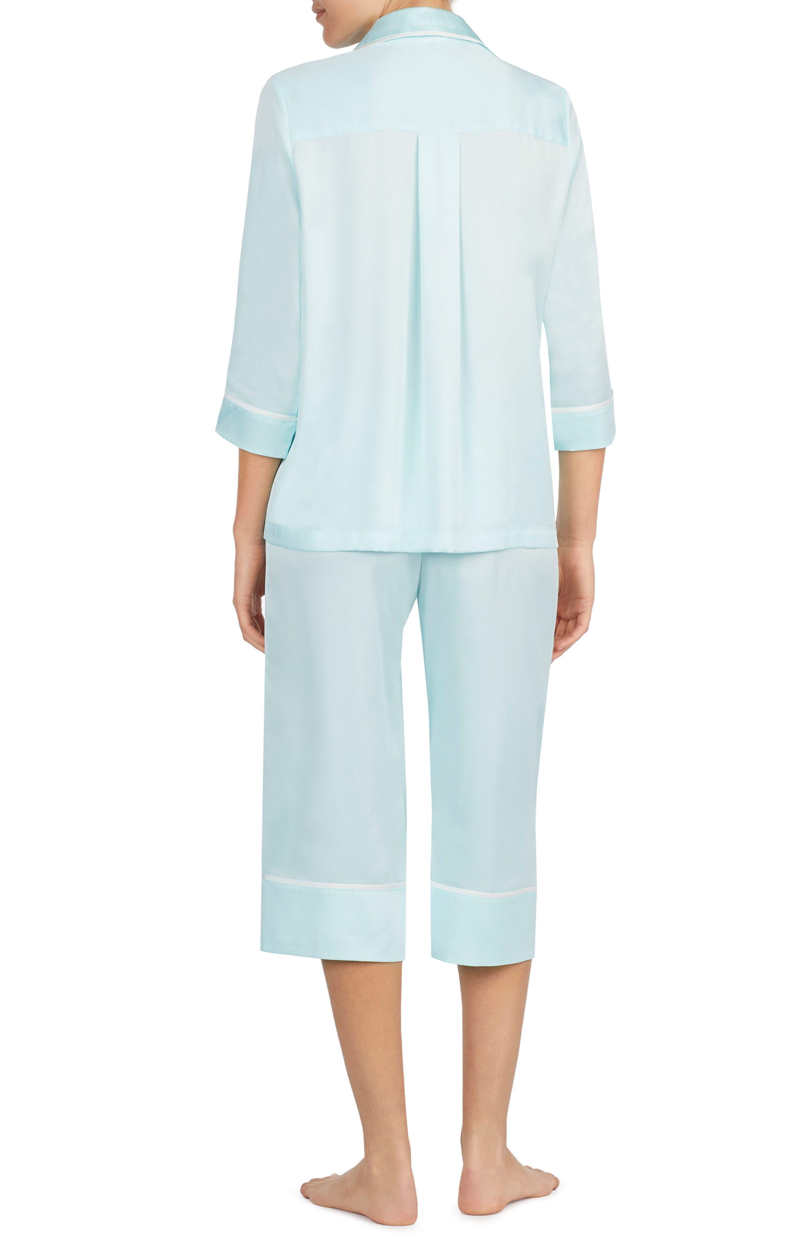 Alternate Image 2  - kate spade new york mrs charmeuse crop pajamas