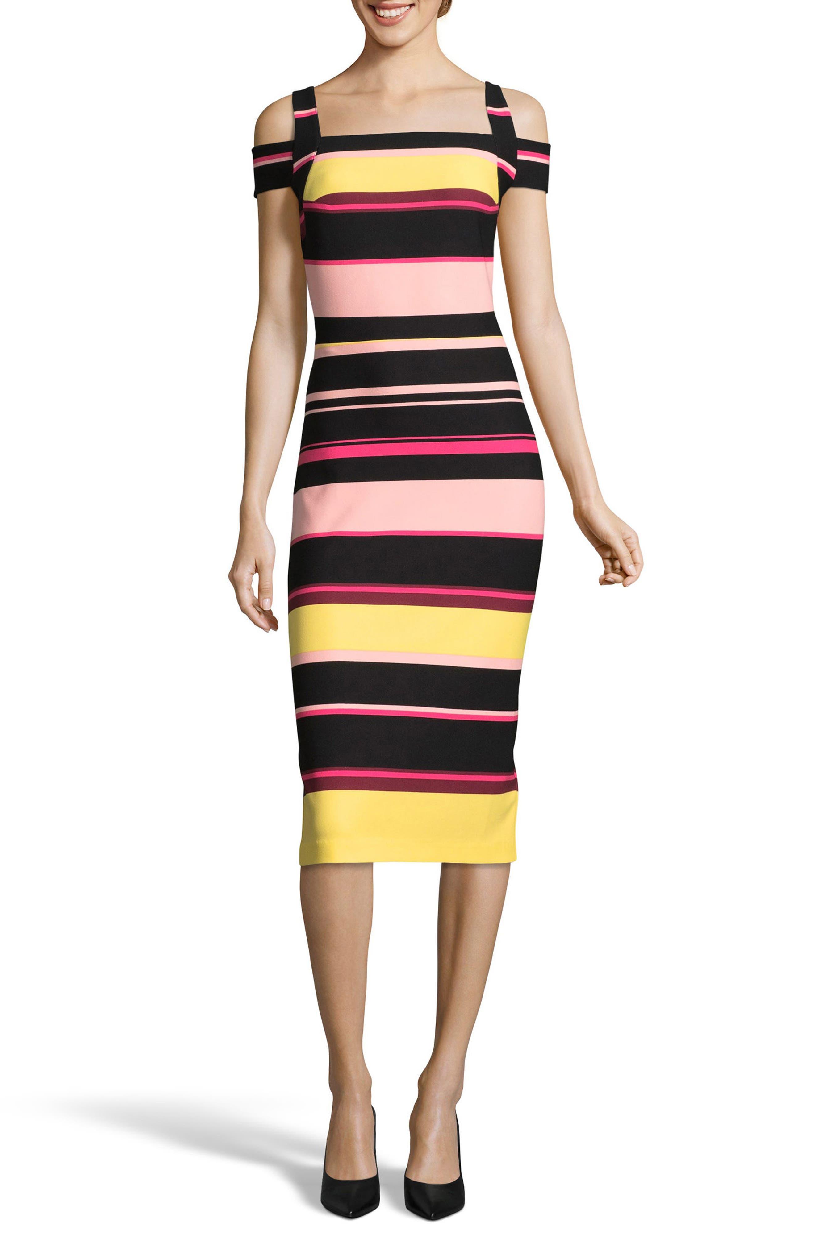 Main Image - ECI Cold Shoulder Sheath Dress