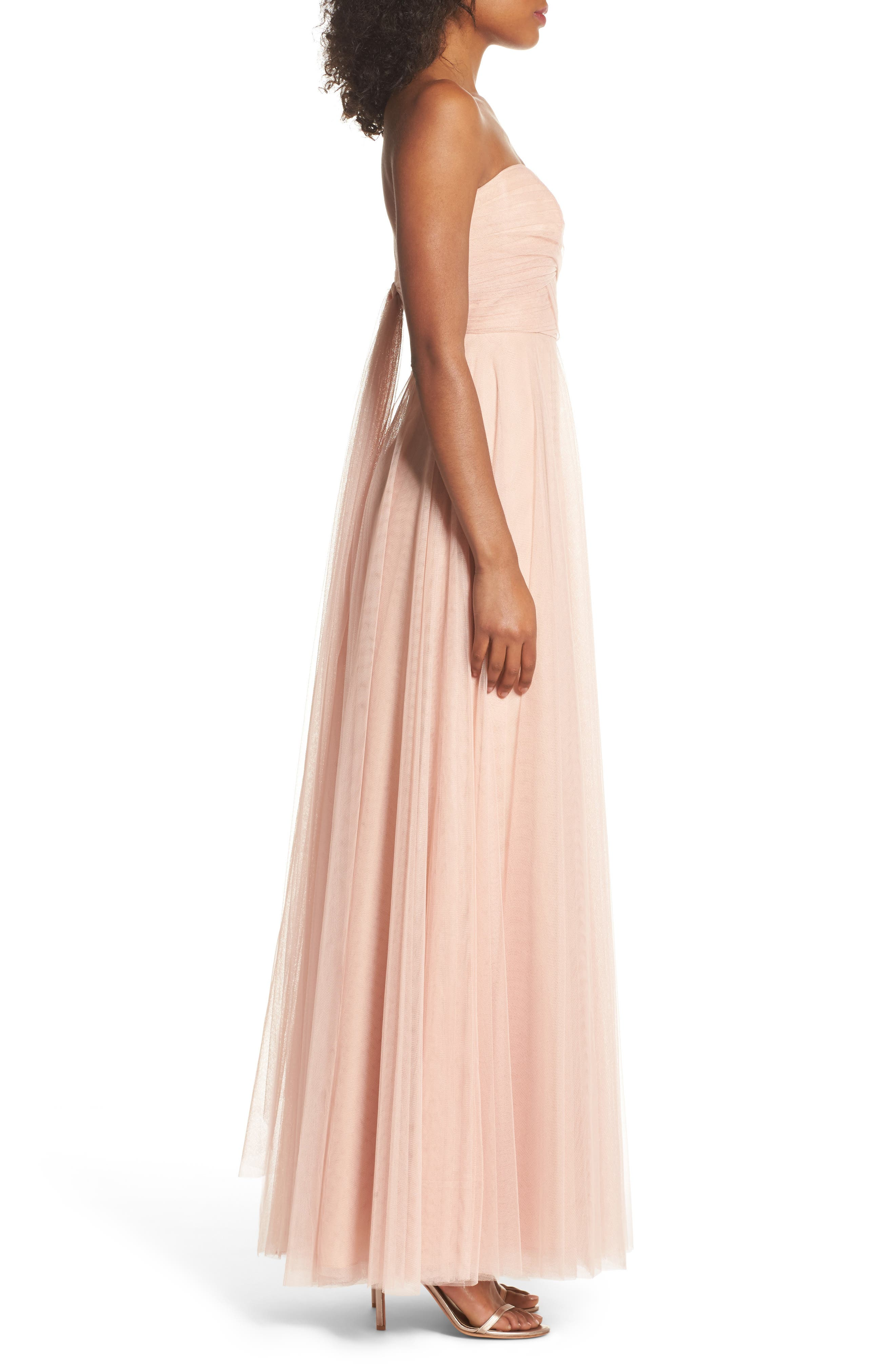 Alternate Image 3  - Jenny Yoo Julia Convertible Soft Tulle Gown