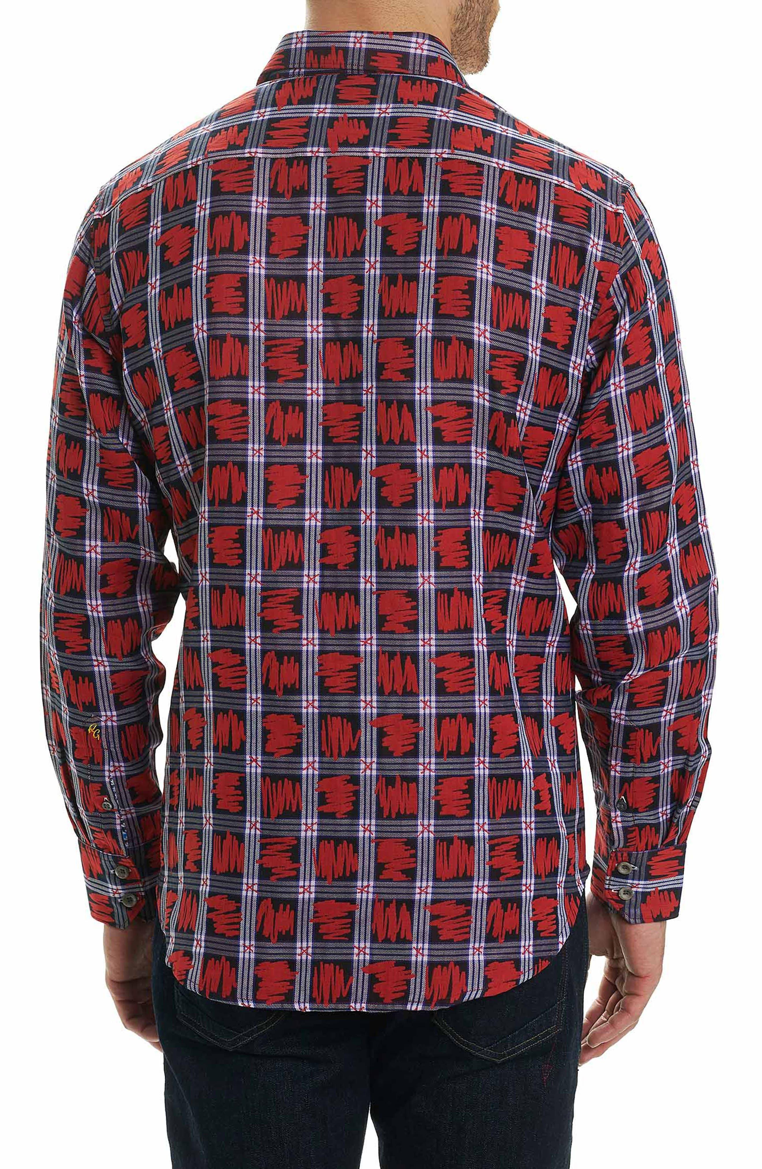 Nassau Classic Fit Sport Shirt,                             Alternate thumbnail 3, color,                             Red