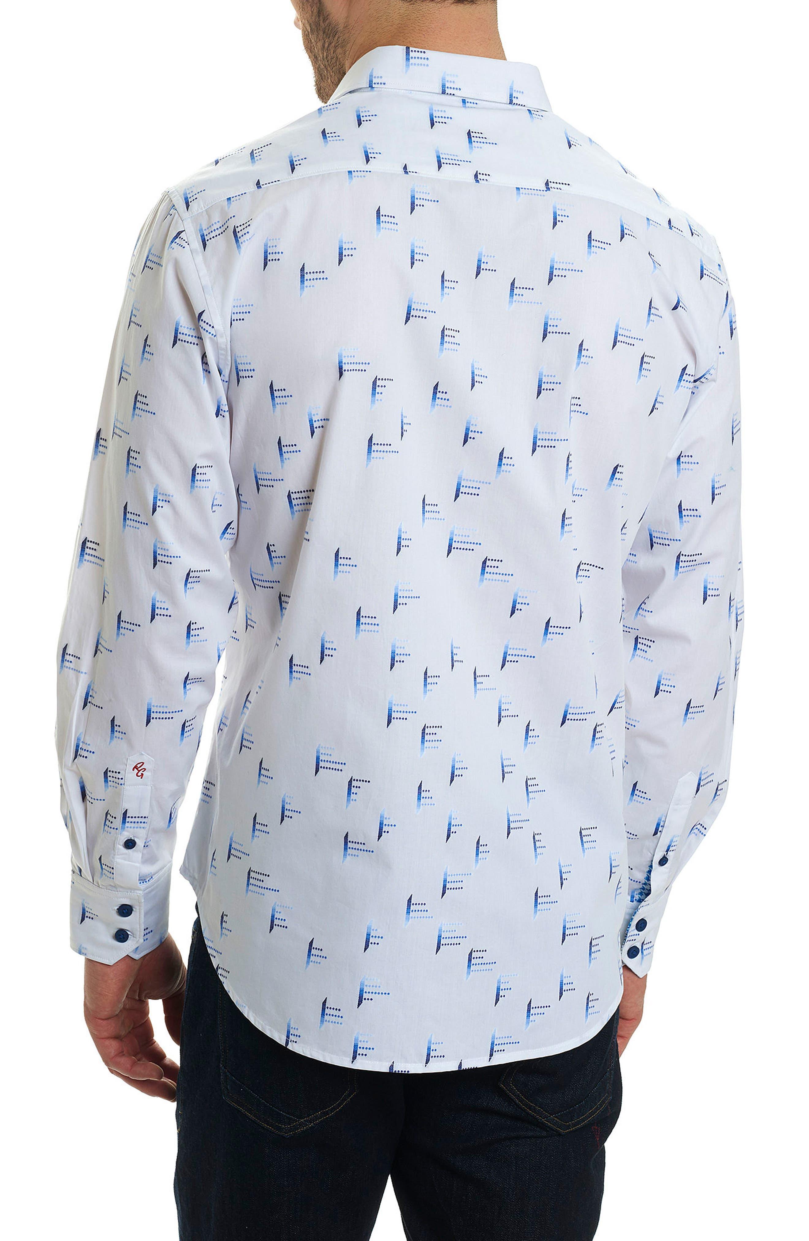 Reid Classic Fit Sport Shirt,                             Alternate thumbnail 2, color,                             White