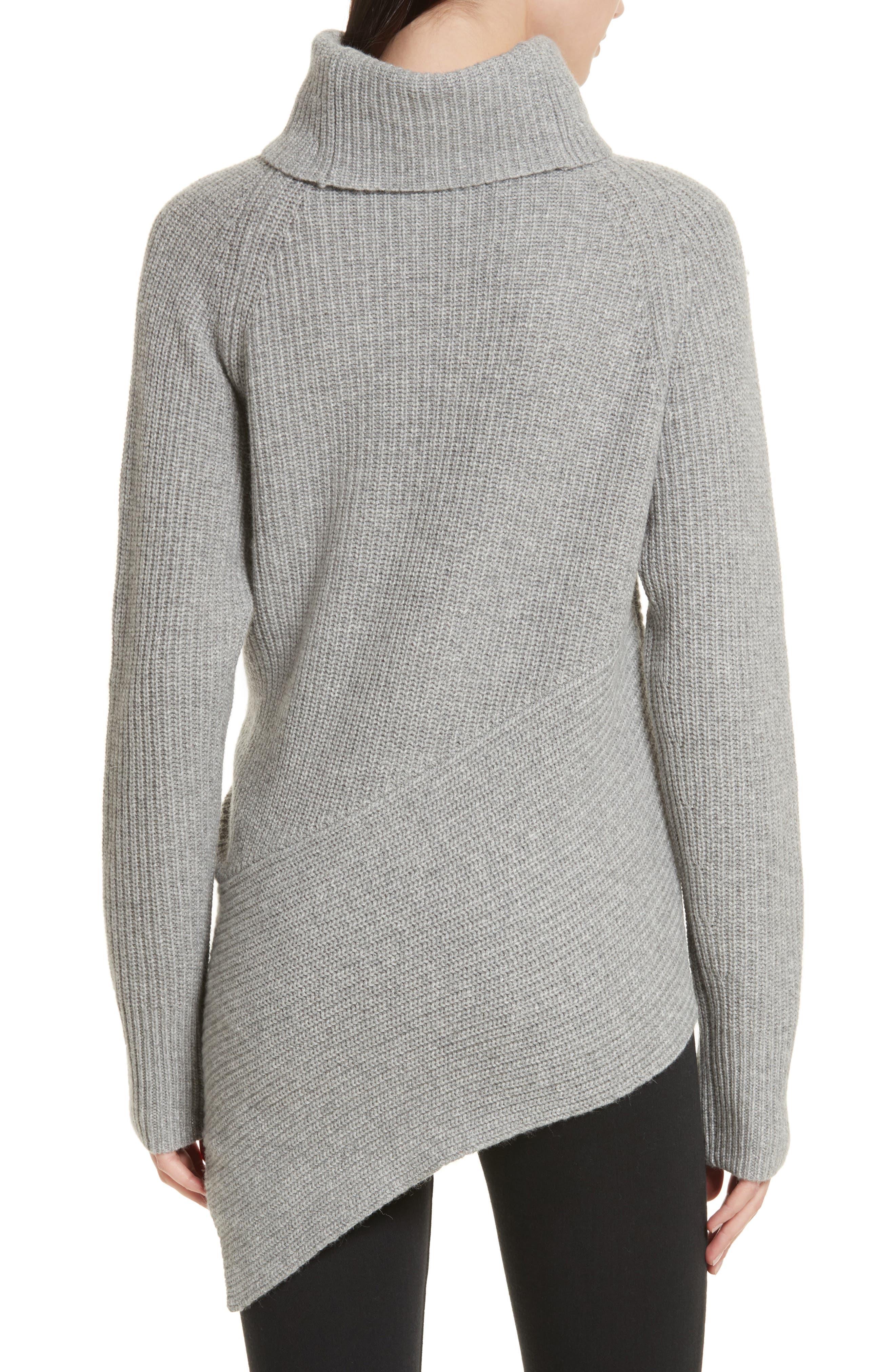 Bree Wrap Waist Sweater,                             Alternate thumbnail 2, color,                             Dovetail Melange