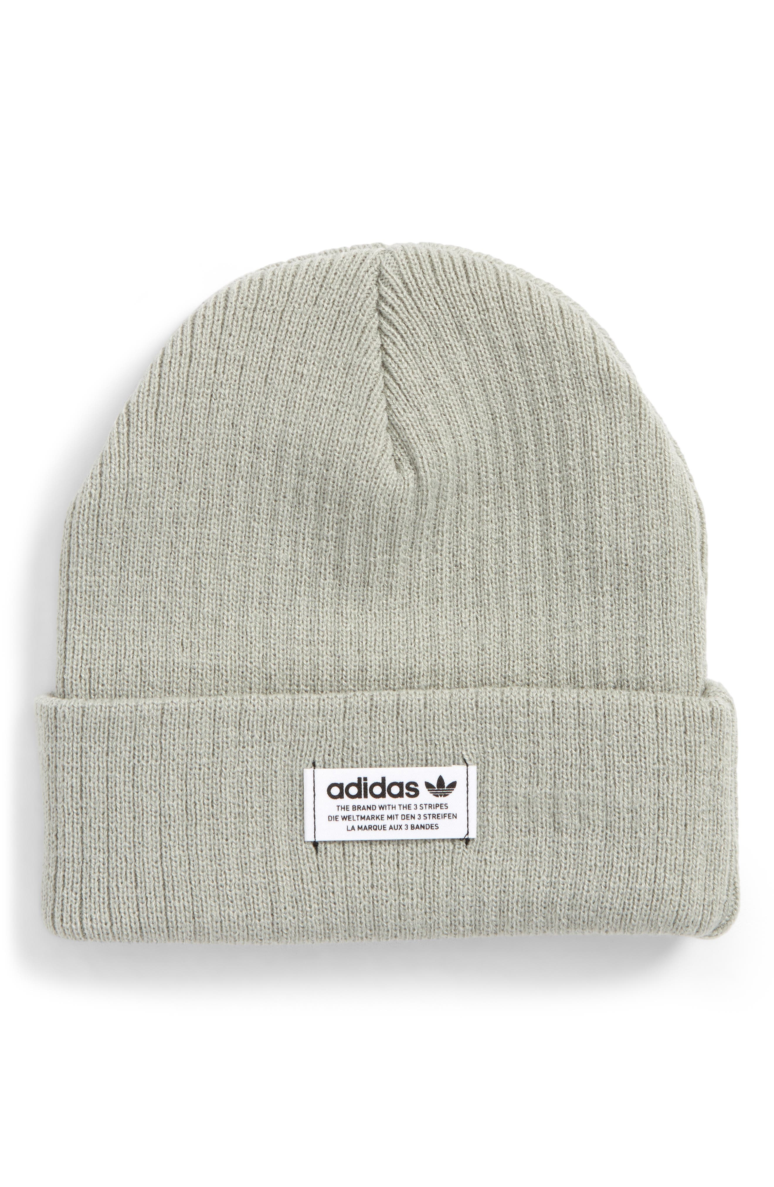 Wide Rib Knit Beanie,                         Main,                         color, Light Green
