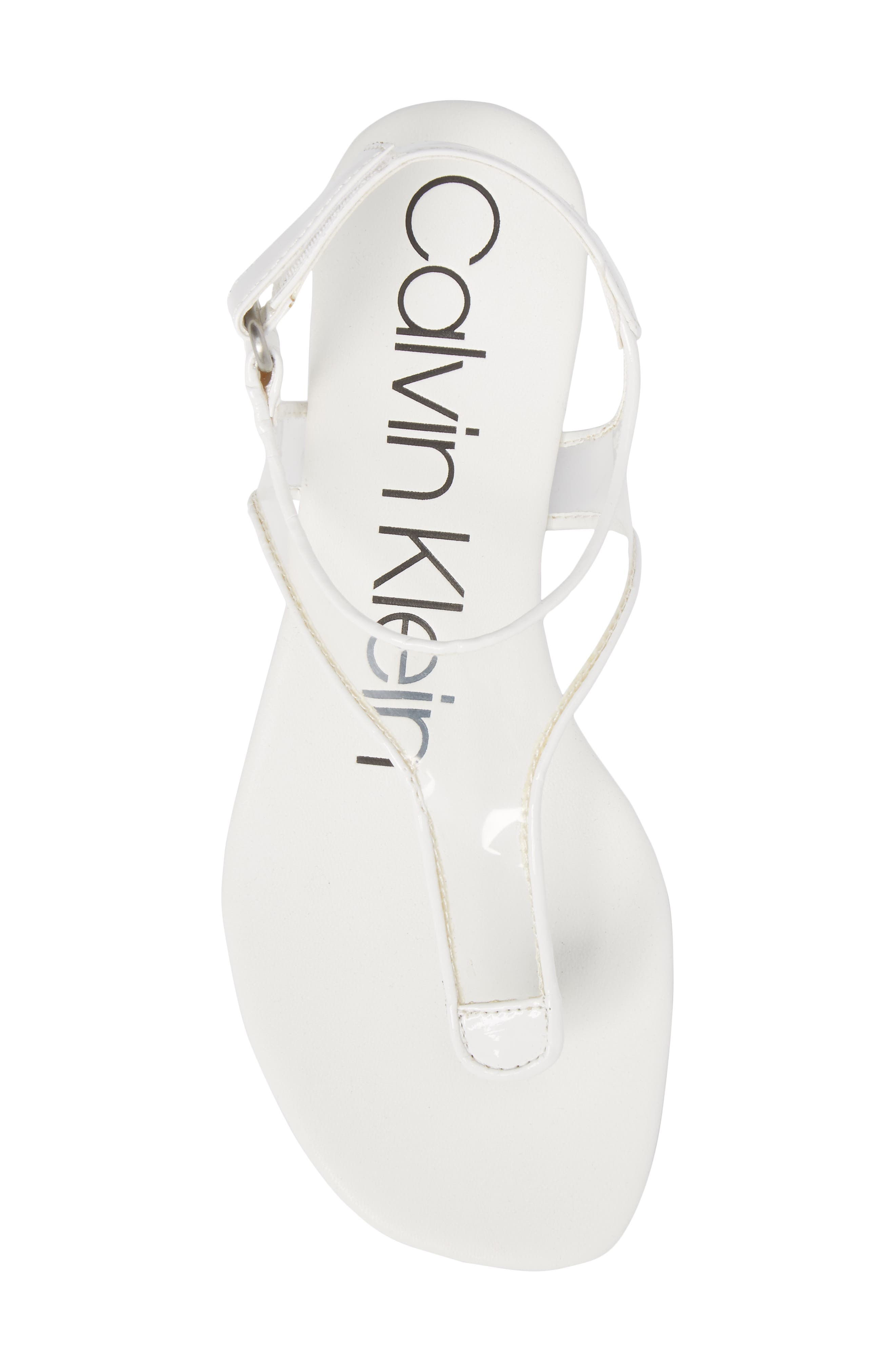 Shilo Clear Strap Sandal,                             Alternate thumbnail 5, color,                             Platinum White Faux Leather