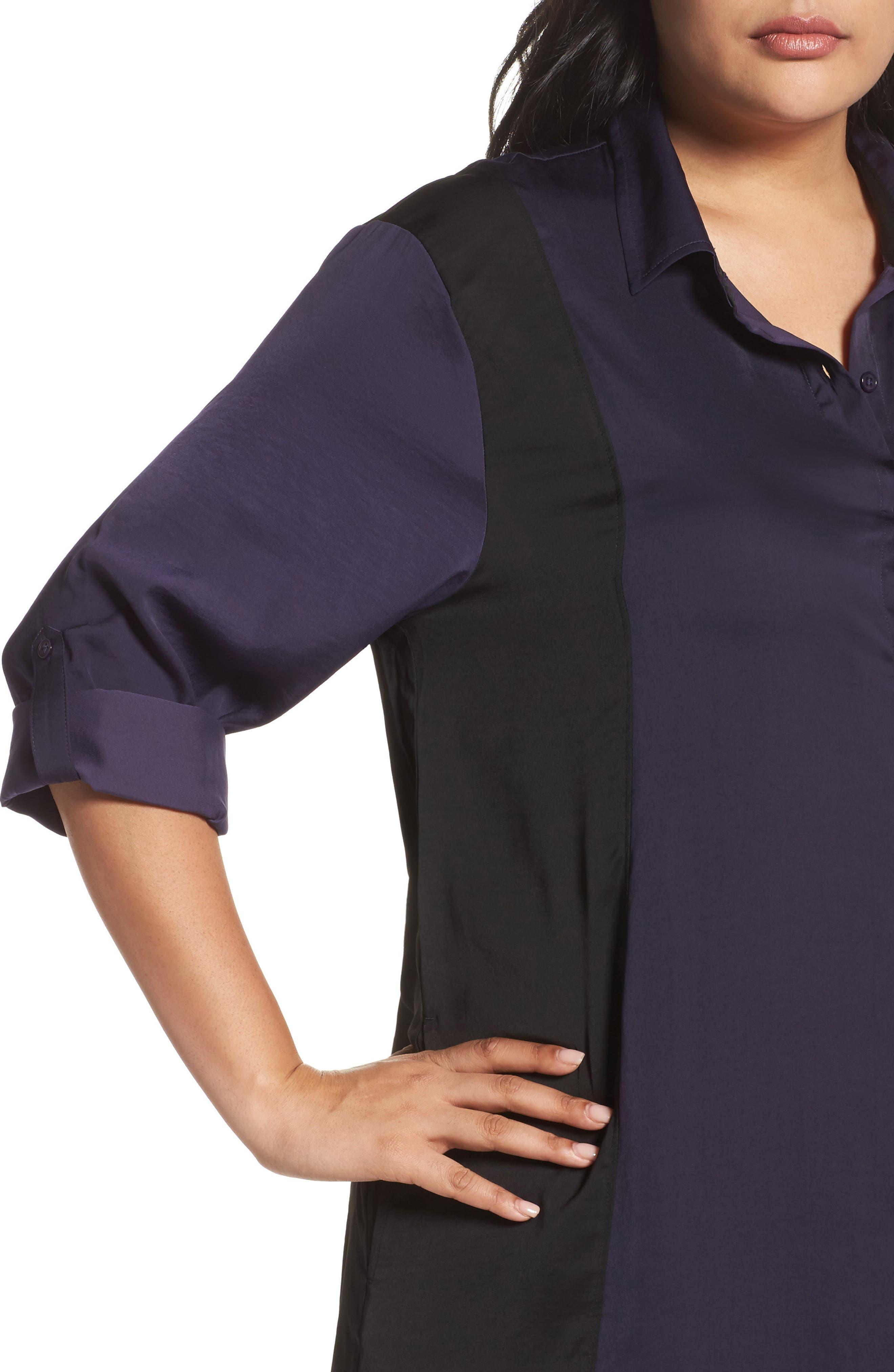 Alternate Image 5  - DKNY Satin Maxi Sleep Shirt (Plus Size)