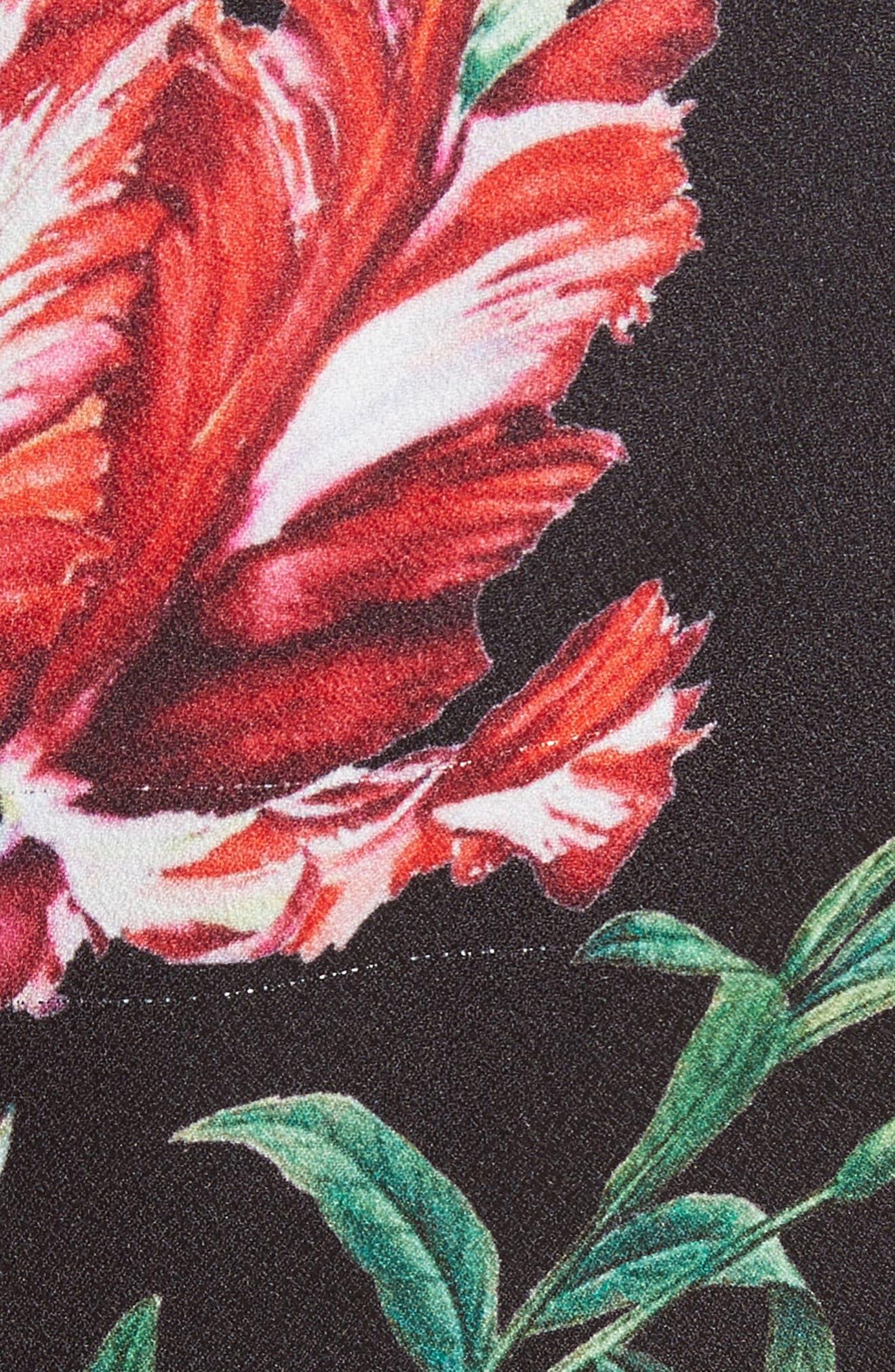 Alternate Image 5  - Monique Lhuillier Botanical Print Draped Sheath Dress