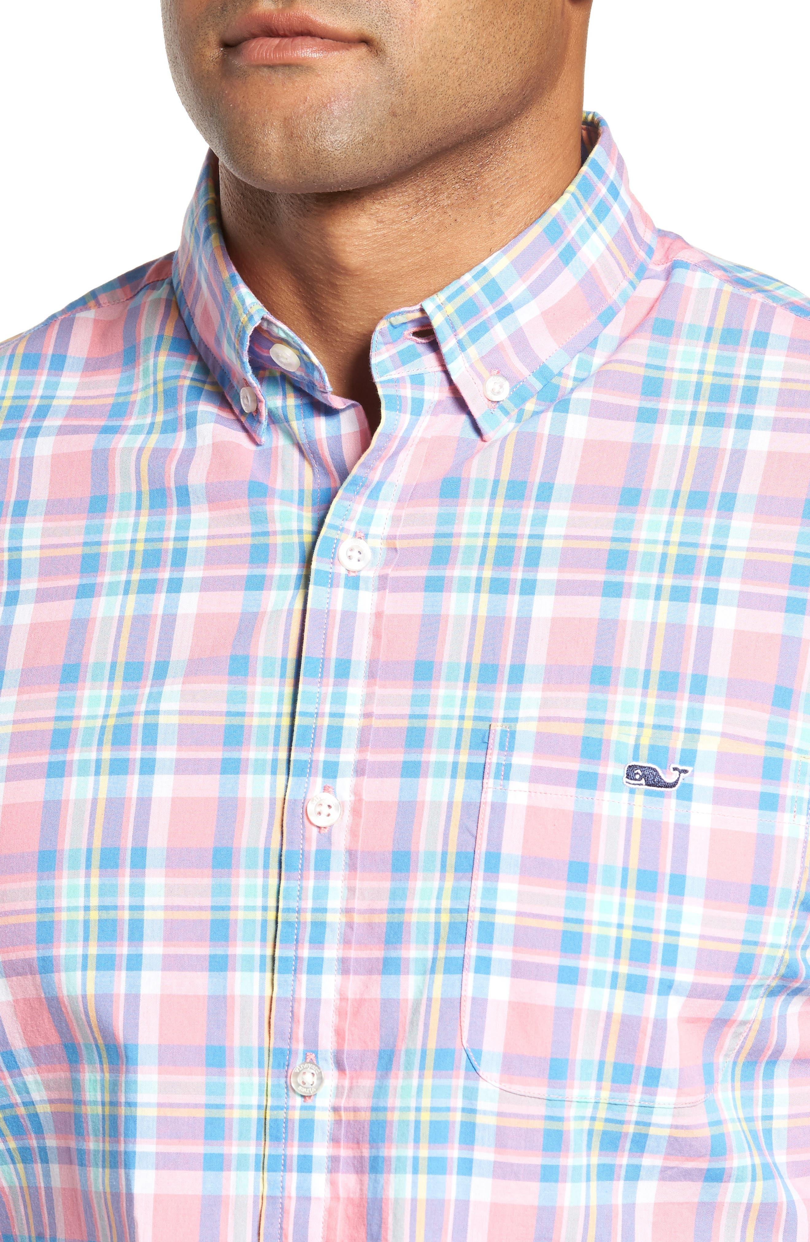 Alternate Image 4  - vineyard vines Cape Haze Tucker Slim Fit Plaid Sport Shirt