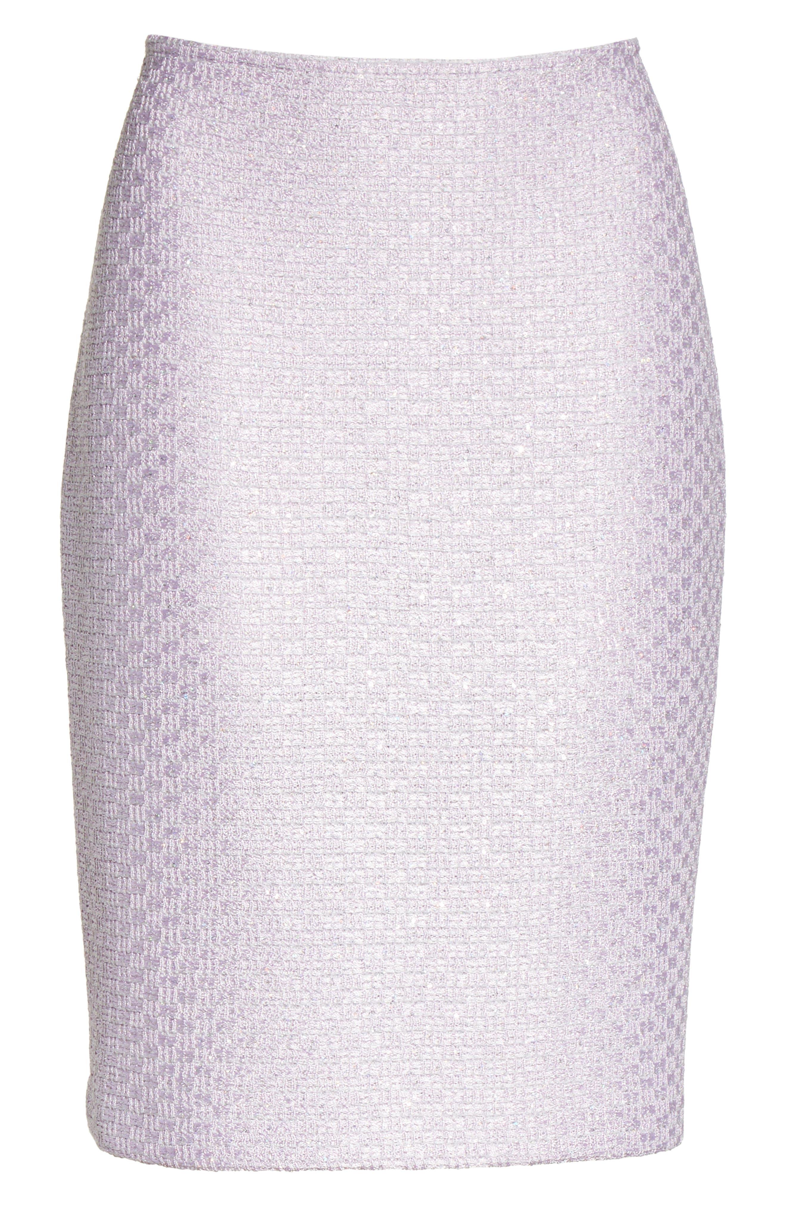 Hansh Sequin Knit Pencil Skirt,                             Alternate thumbnail 7, color,                             Lilac Multi