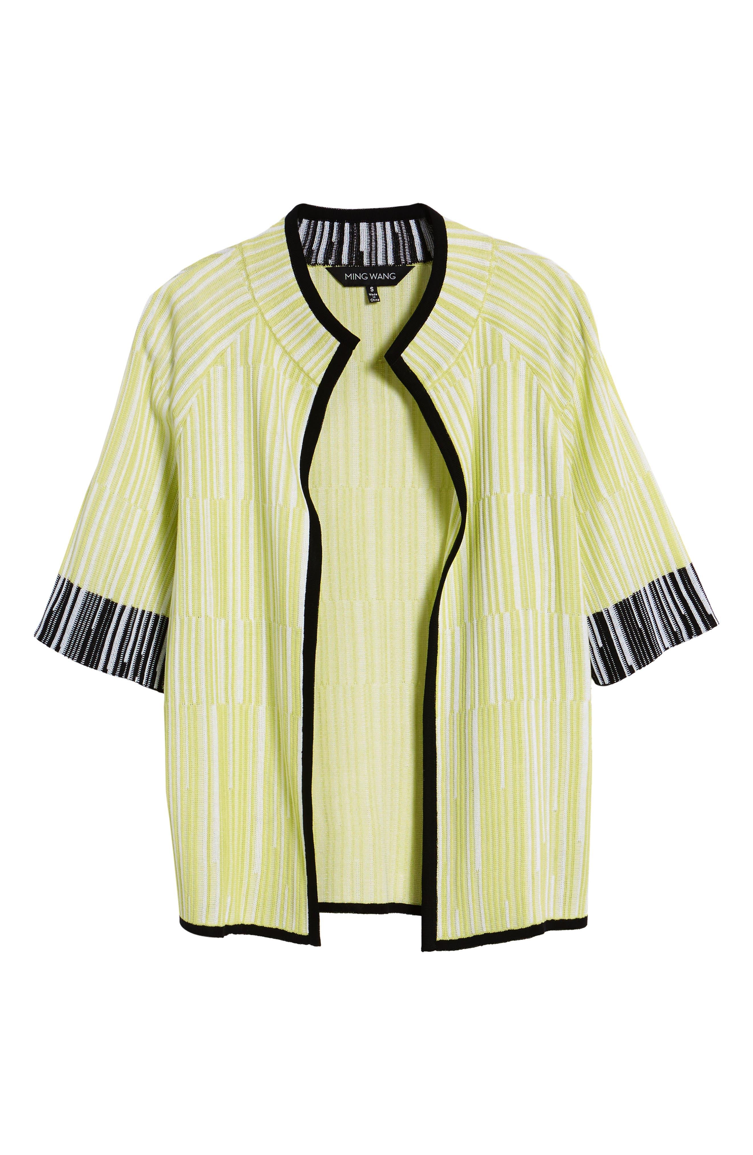 Alternate Image 6  - Ming Wang Short Sleeve Jacquard Jacket
