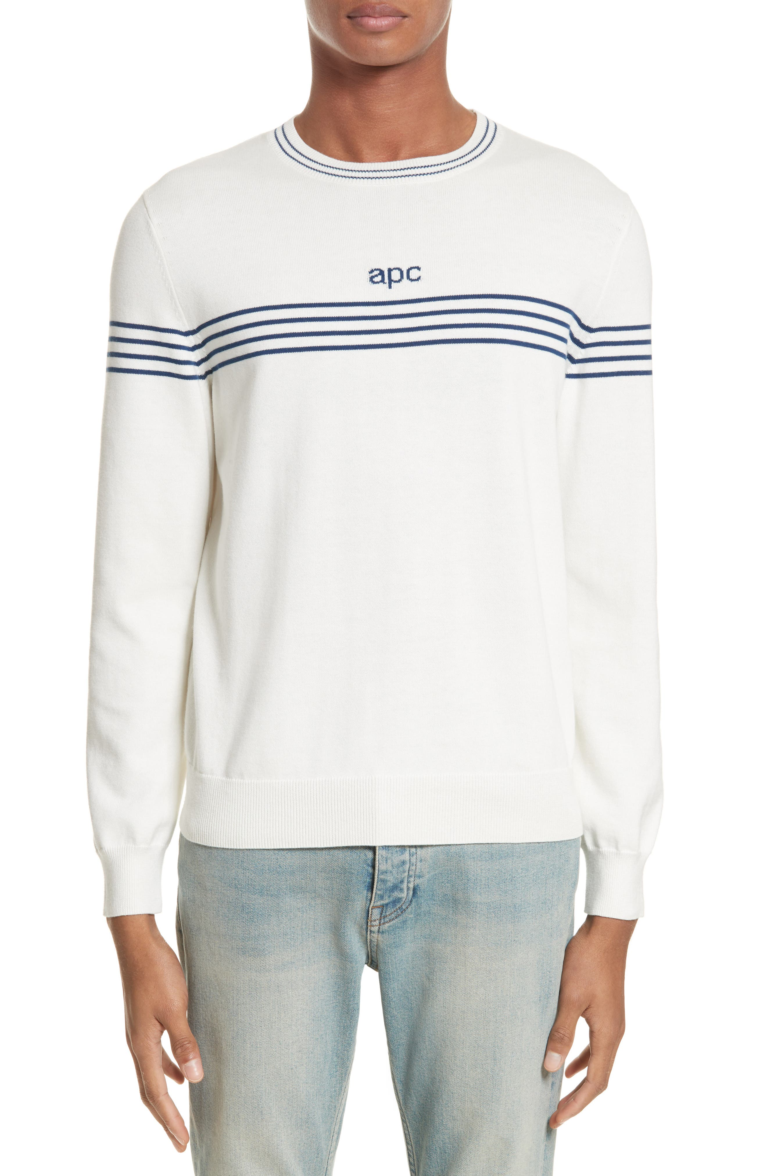 A.P.C. Logo Cotton & Cashmere Crewneck Sweater