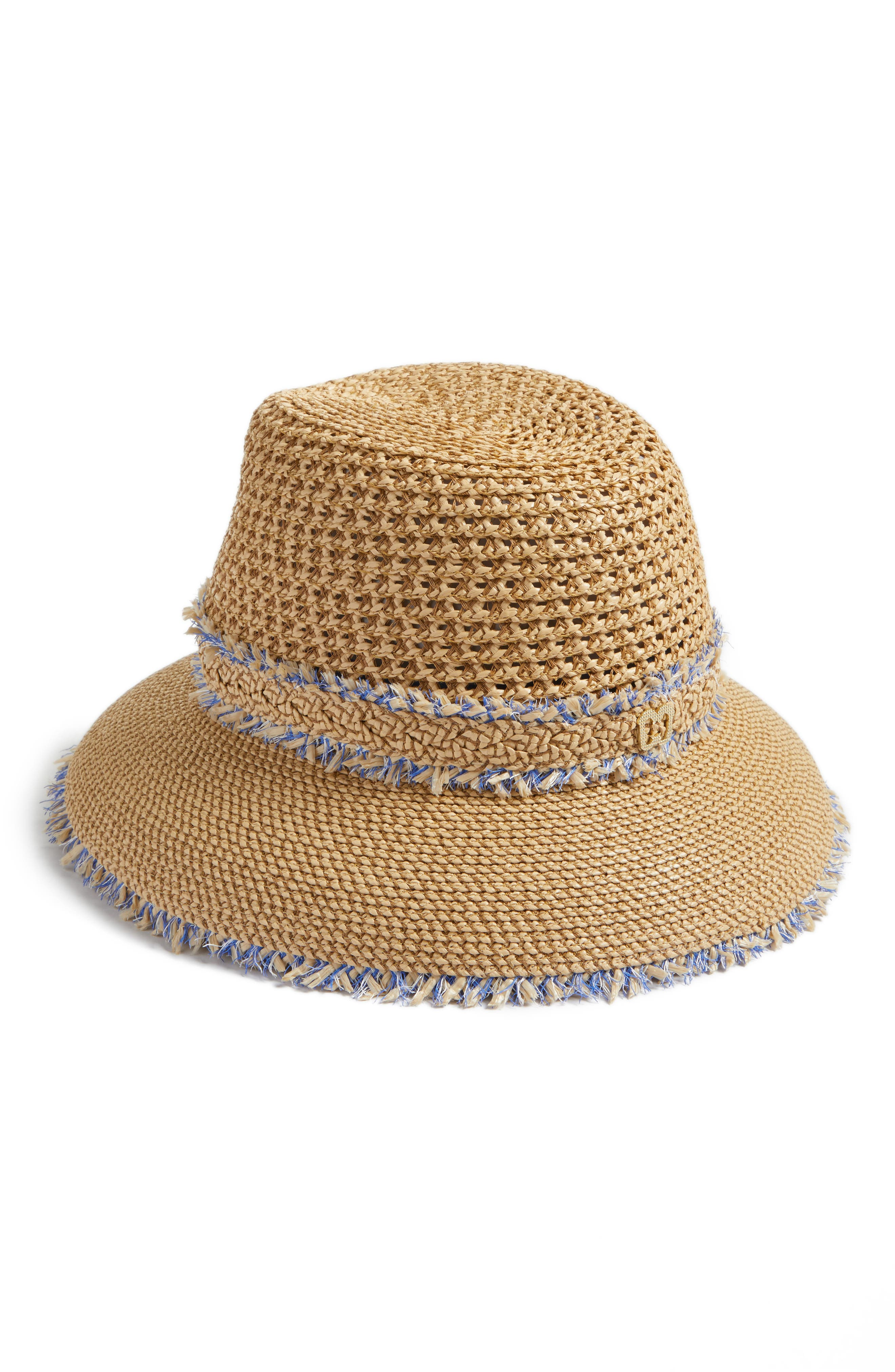 Lulu Squishee<sup>®</sup> Straw Hat,                             Alternate thumbnail 2, color,                             Peanut Mix