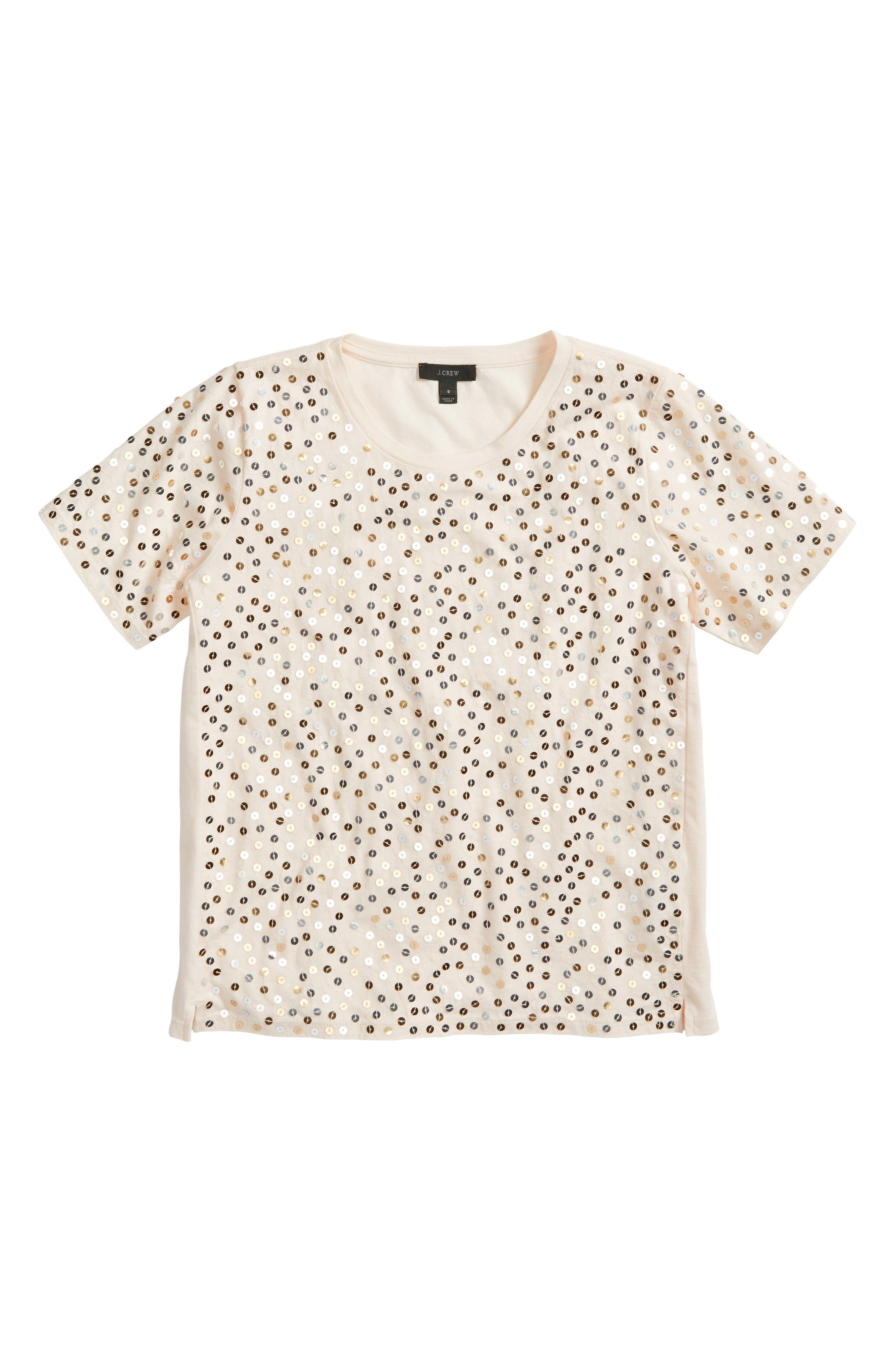 Alternate Image 6  - J.Crew Metallic Sequin Tee