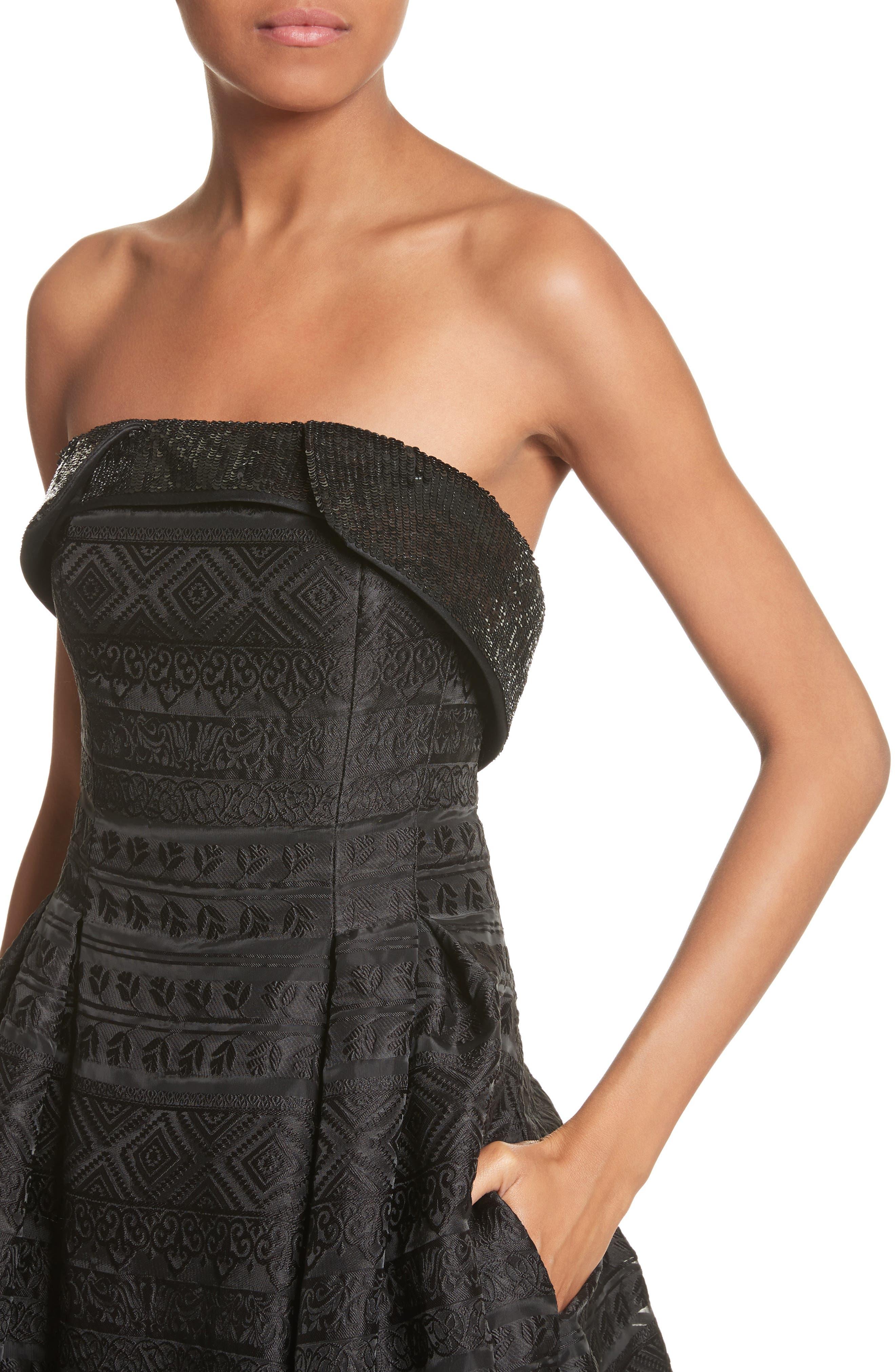 Alternate Image 4  - Sachin & Babi Noir Istiklal Embellished Strapless Ballgown