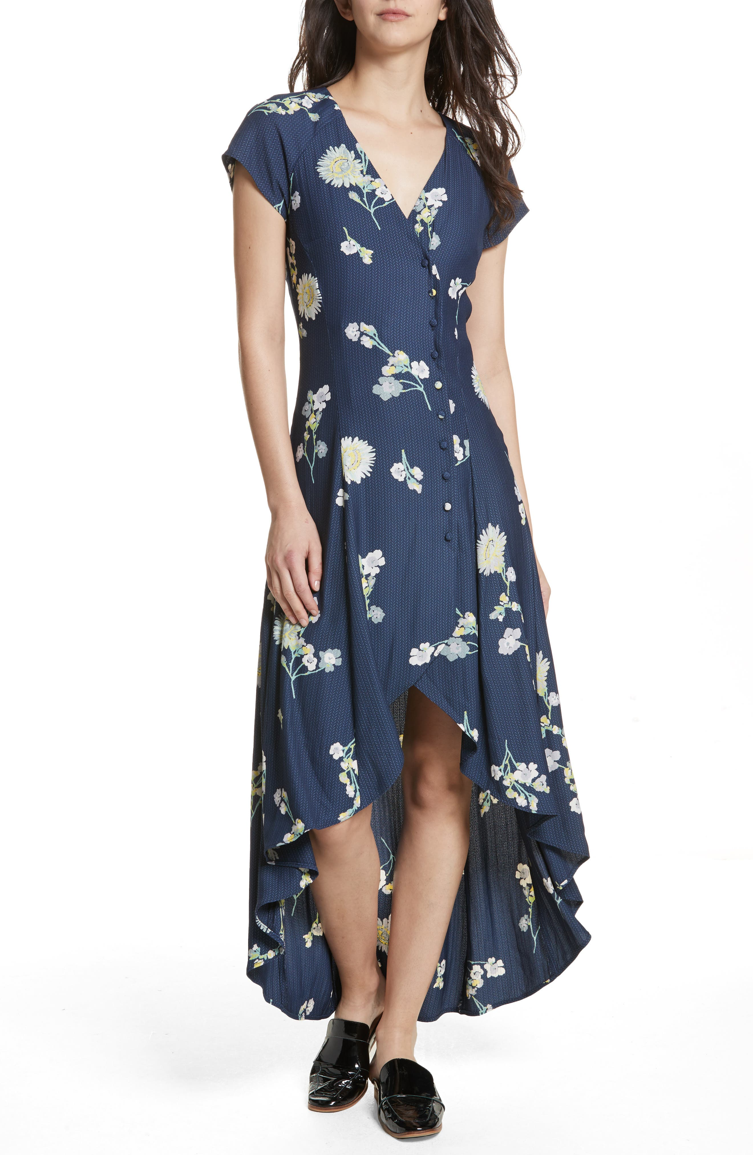 Lost in You Midi Dress,                             Alternate thumbnail 7, color,                             Blue Combo