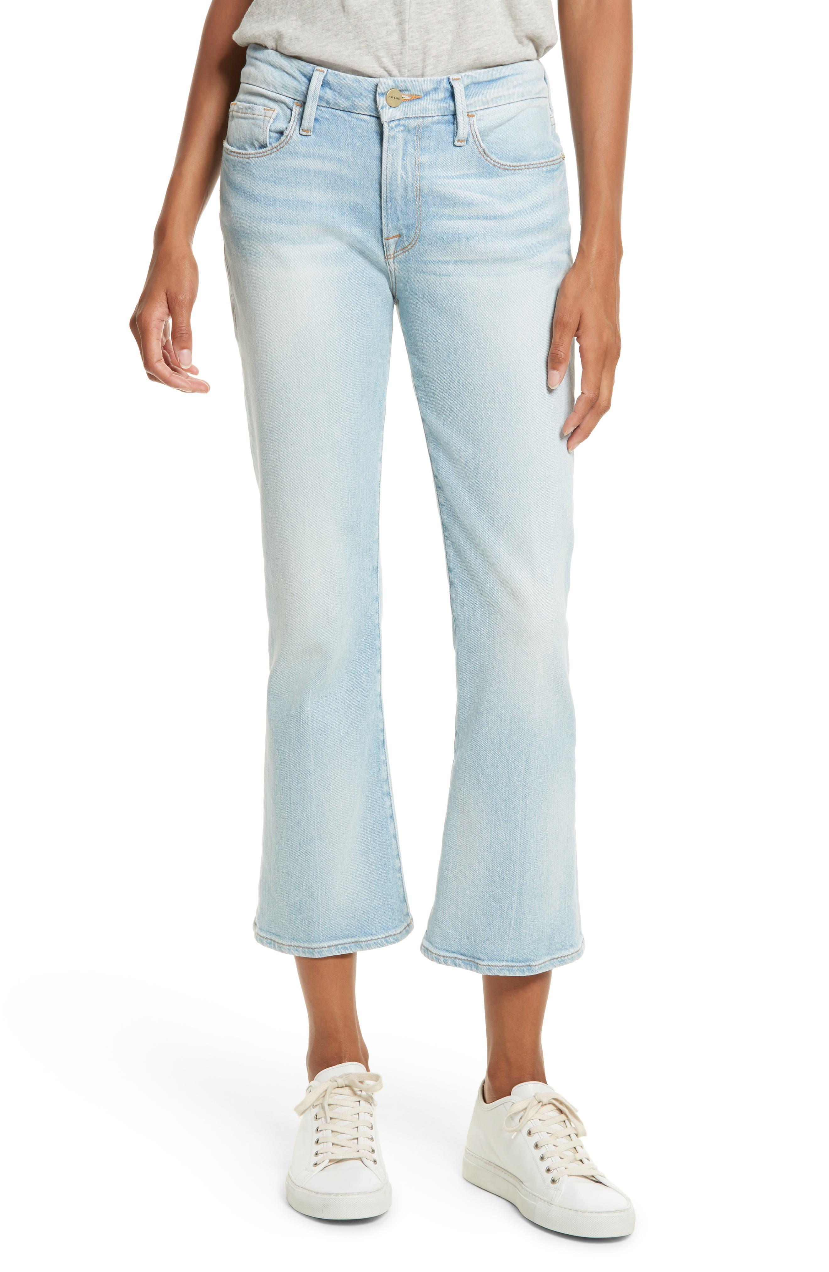 Alternate Image 1 Selected - FRAME Le Crop Mini Boot Jeans (Adeline)