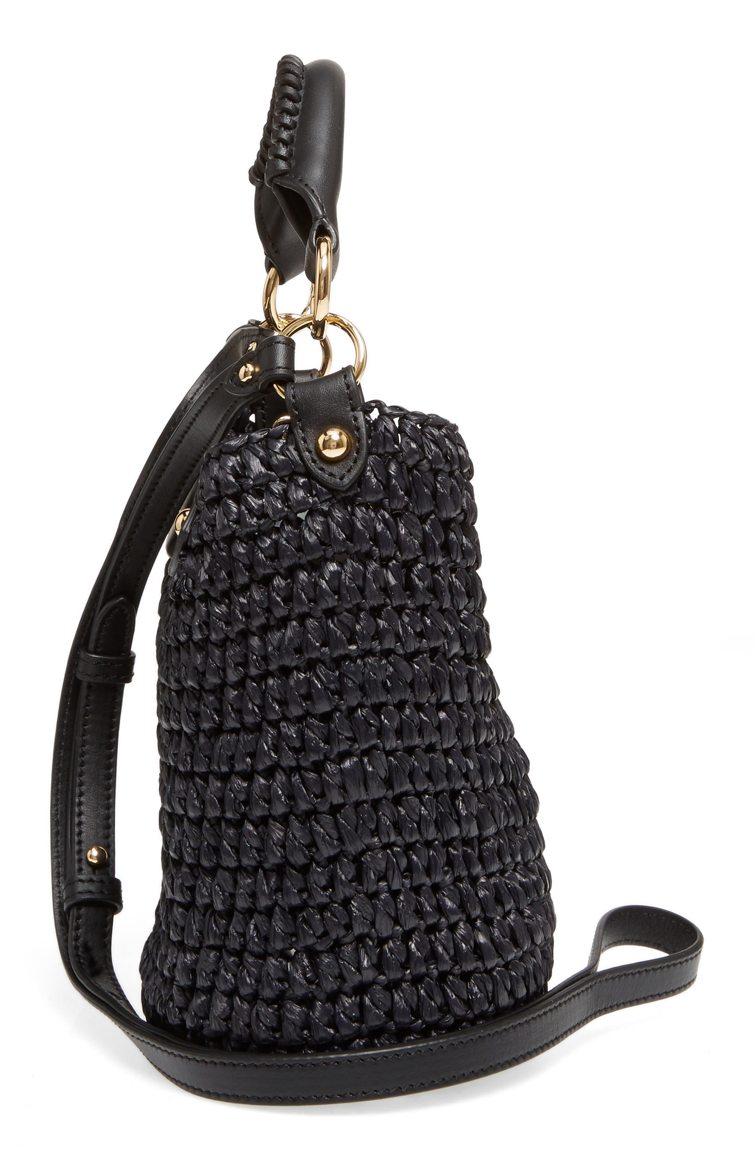 Alternate Image 5  - Diane von Furstenberg Mini Raffia Bucket Bag