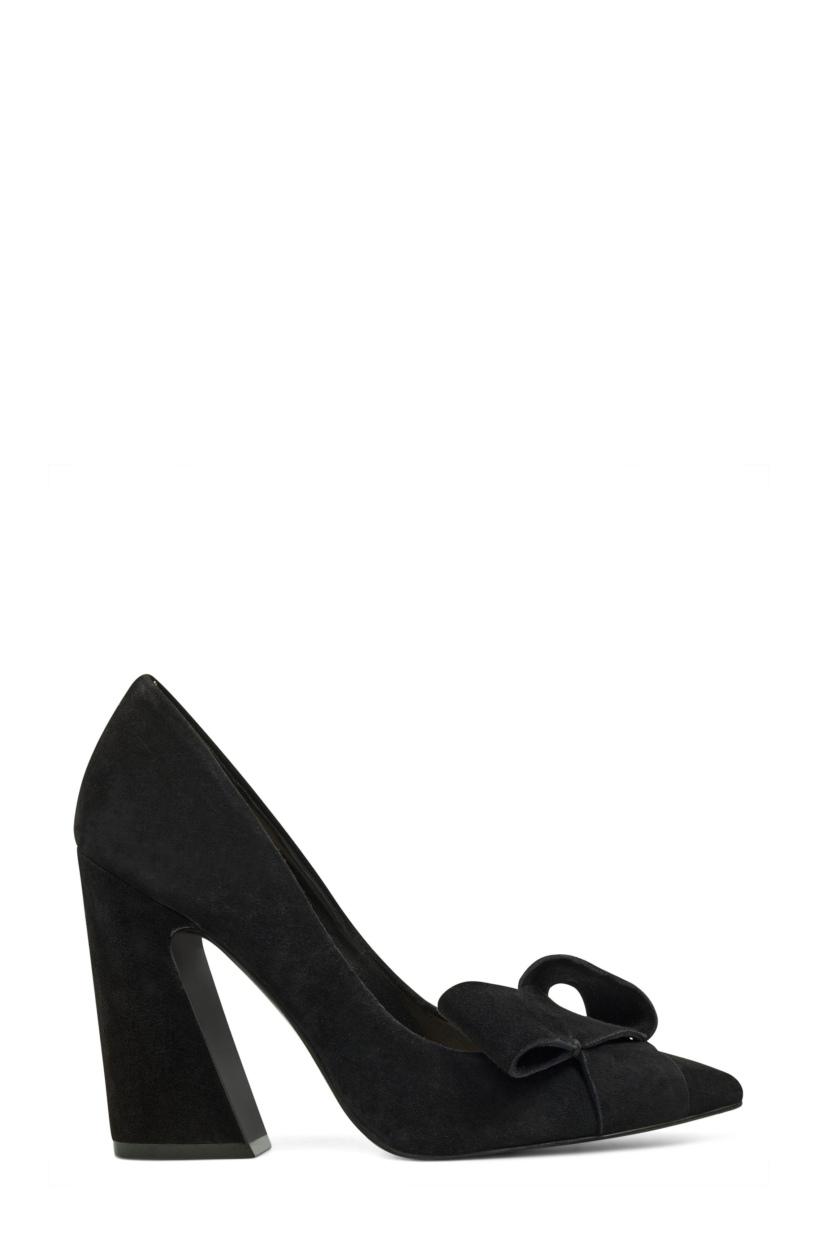 Haddriana Pointy Toe Pump,                             Alternate thumbnail 3, color,                             Black Suede