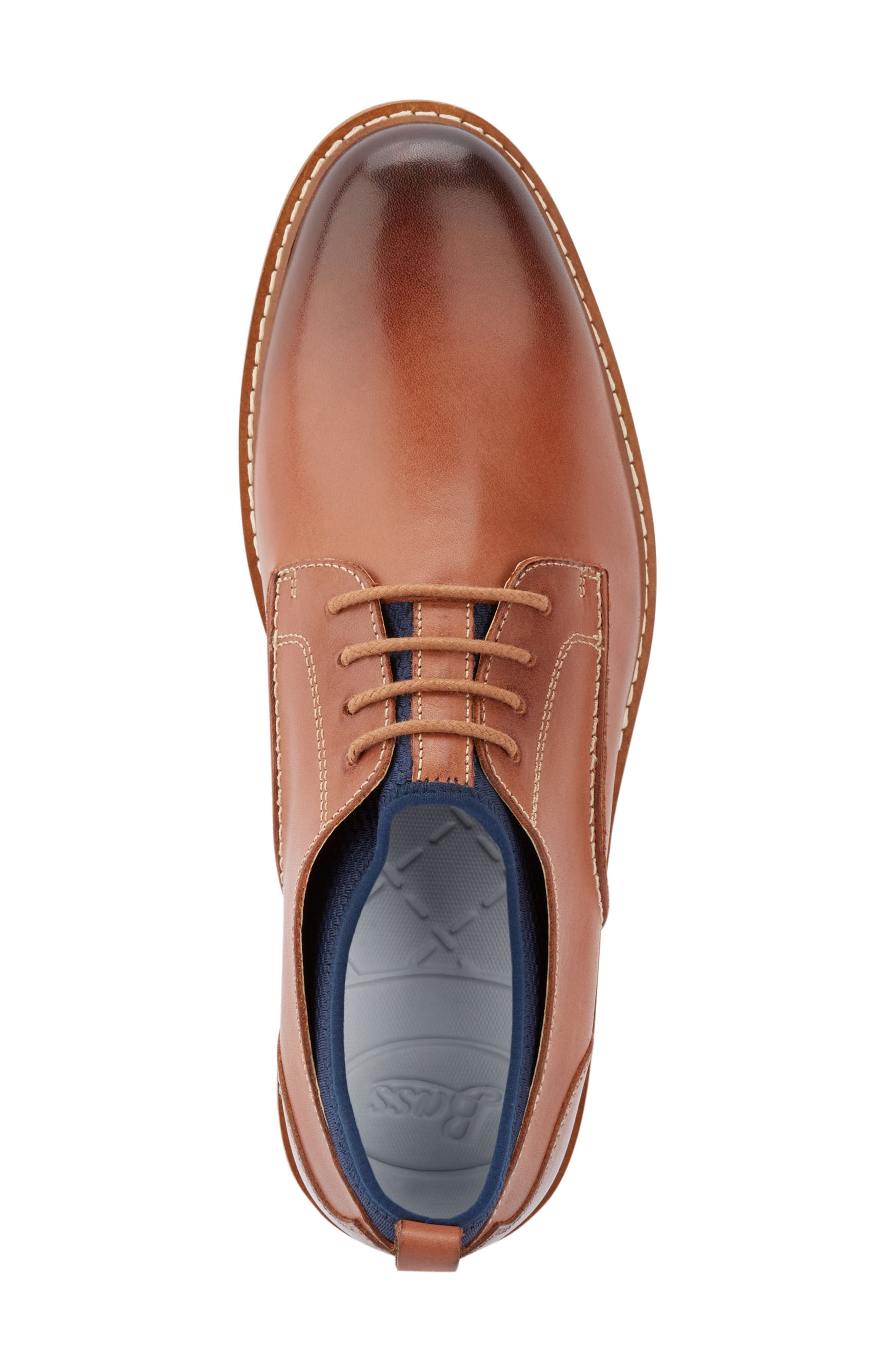 Buck 2.0 Plain Toe Derby,                             Alternate thumbnail 5, color,                             Tan Burnished Leather