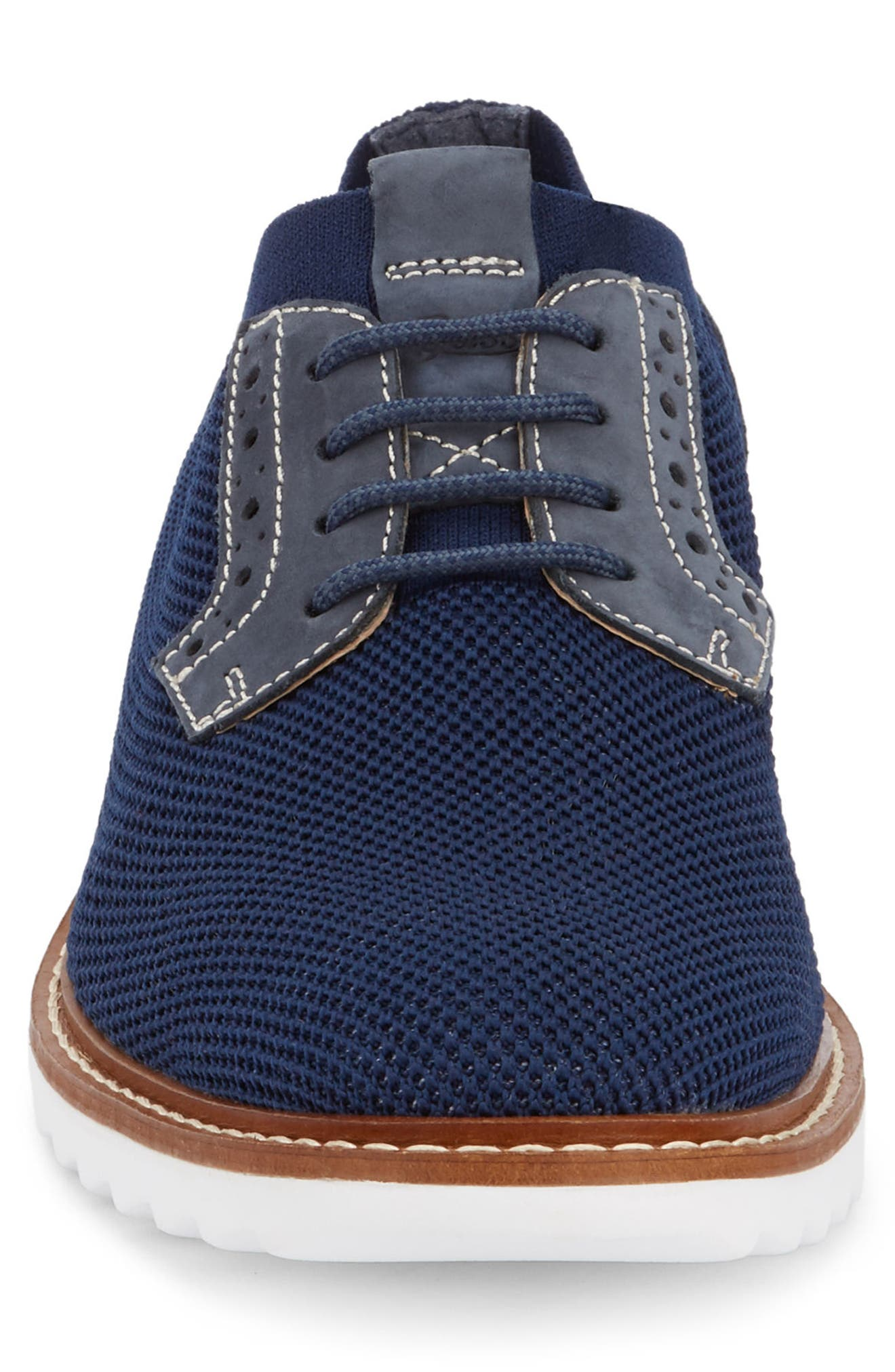 Buck 2.0 Plain Toe Derby,                             Alternate thumbnail 4, color,                             Royal Blue Knit/ Nubuck