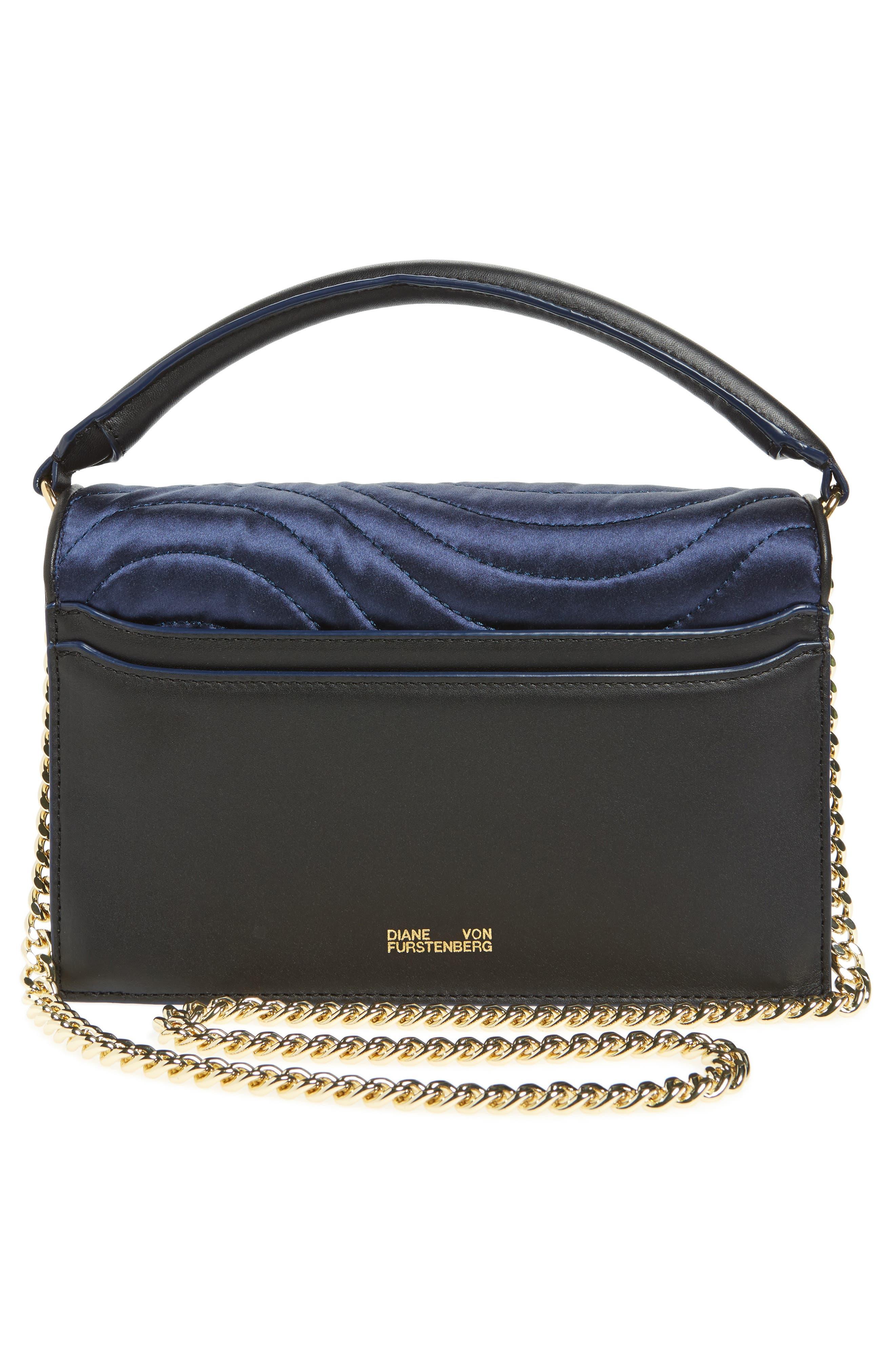 Bonne Soirée Quilted Top Handle Bag,                             Alternate thumbnail 3, color,                             Navy