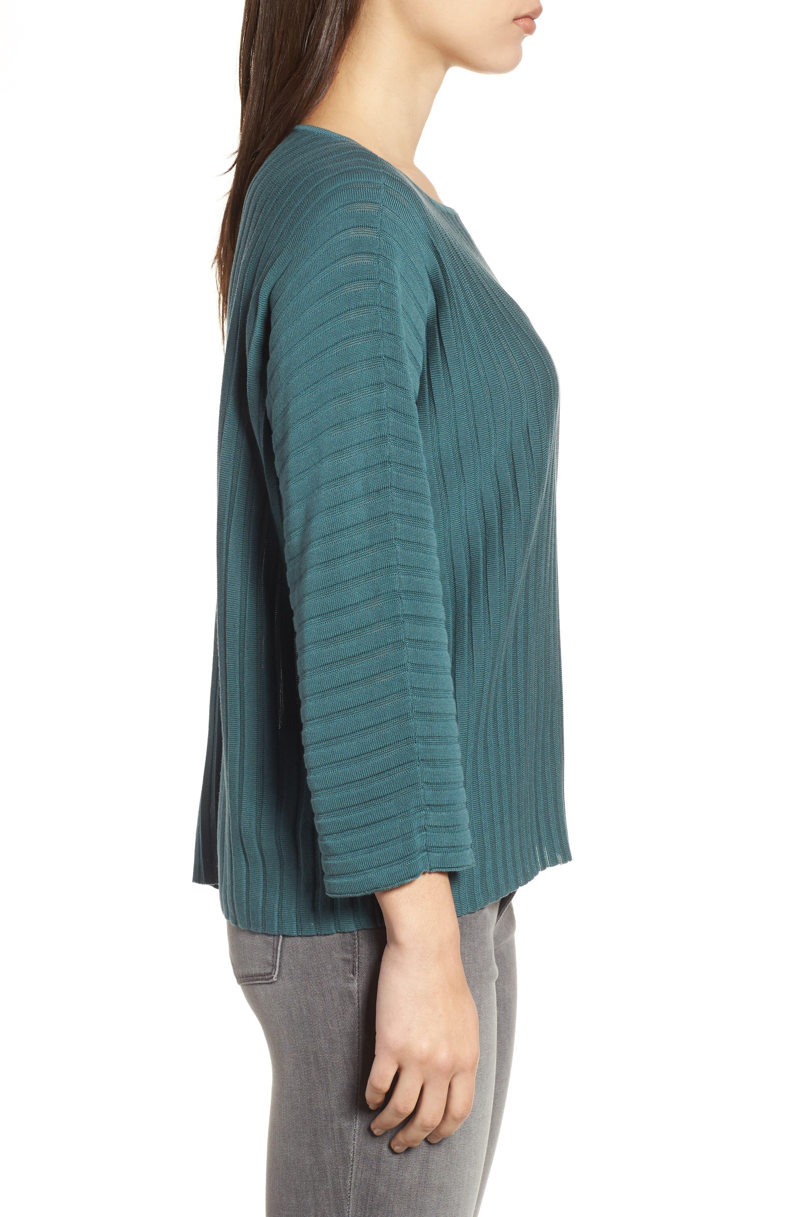 Alternate Image 3  - Eileen Fisher Ribbed Bateau Neck Sweater
