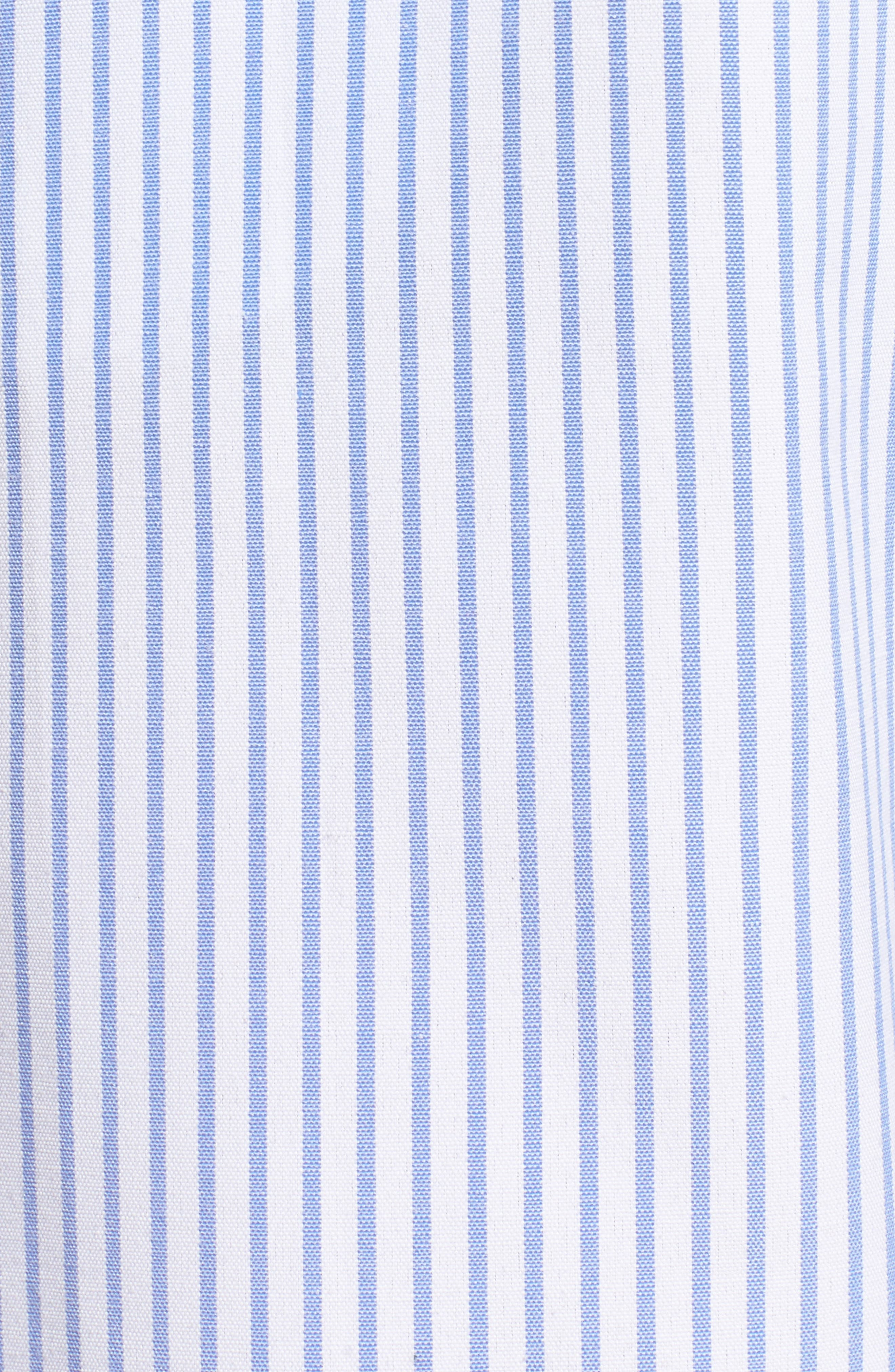 Off the Shoulder Jumpsuit,                             Alternate thumbnail 6, color,                             Denim Stripe