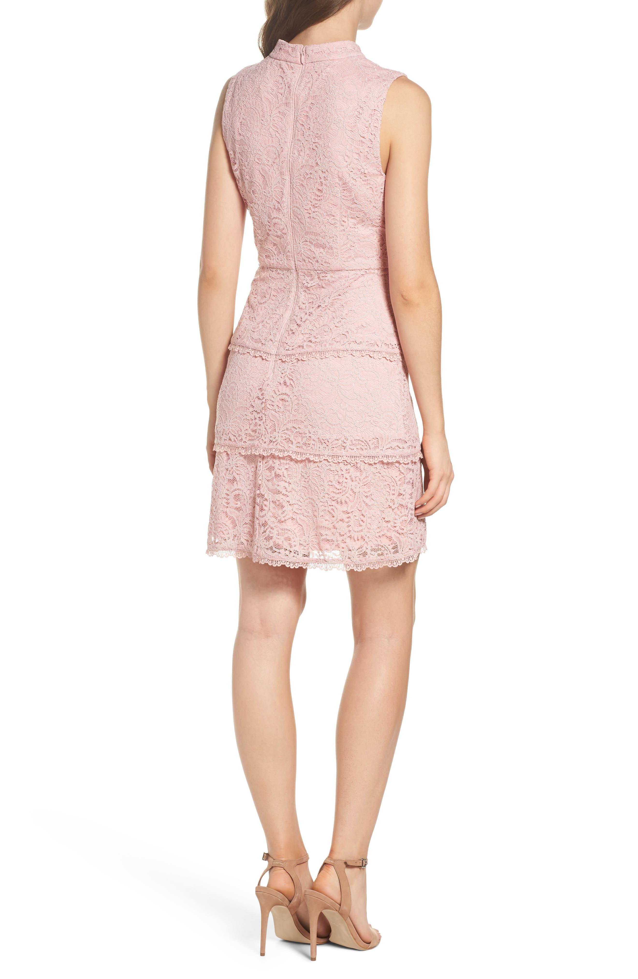 Sophia Tiered Lace Dress,                             Alternate thumbnail 2, color,                             Lilac Mist