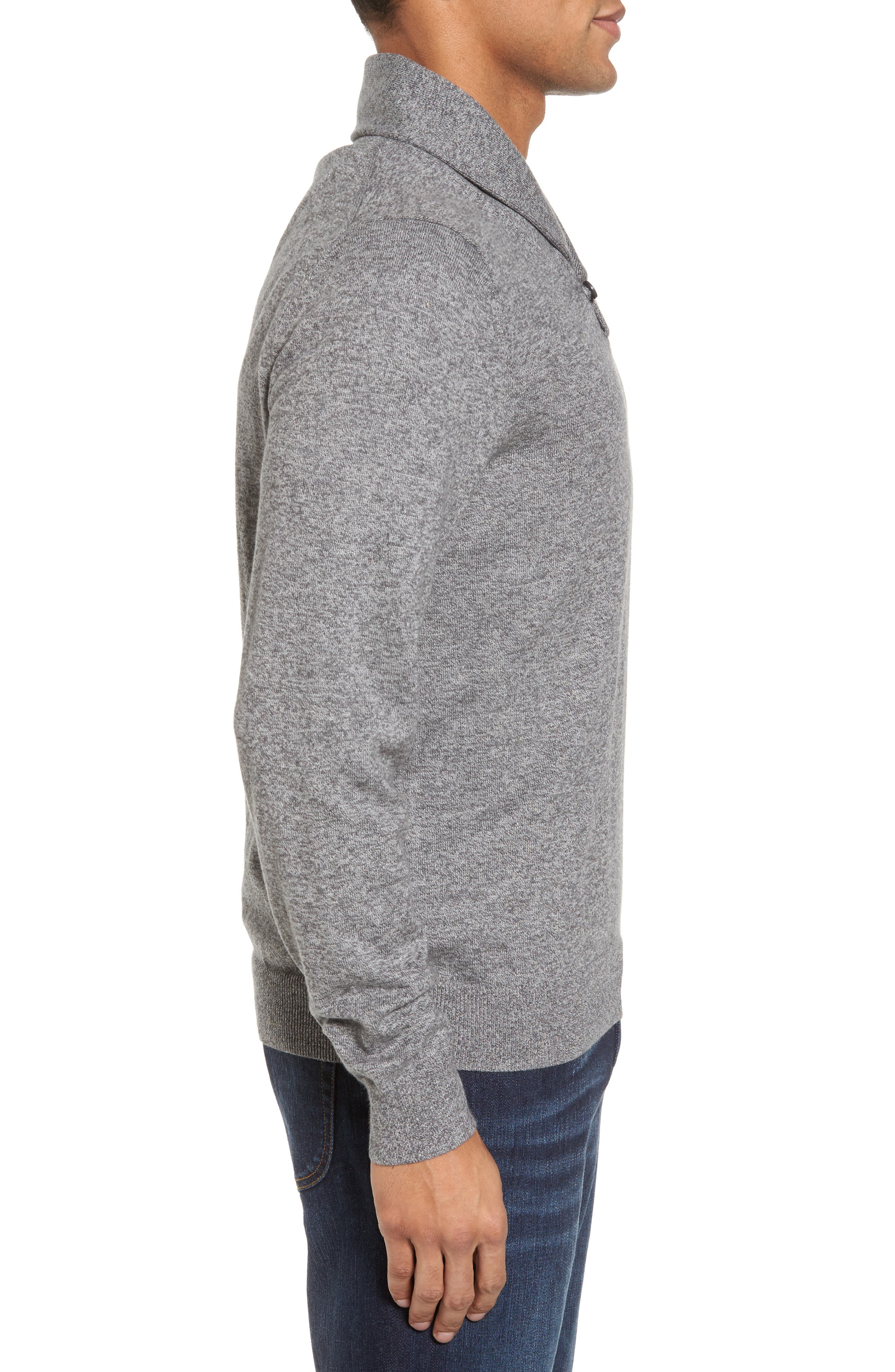 Alternate Image 3  - Nordstrom Men's Shop Cotton & Cashmere Shawl Collar Sweater (Regular & Tall)