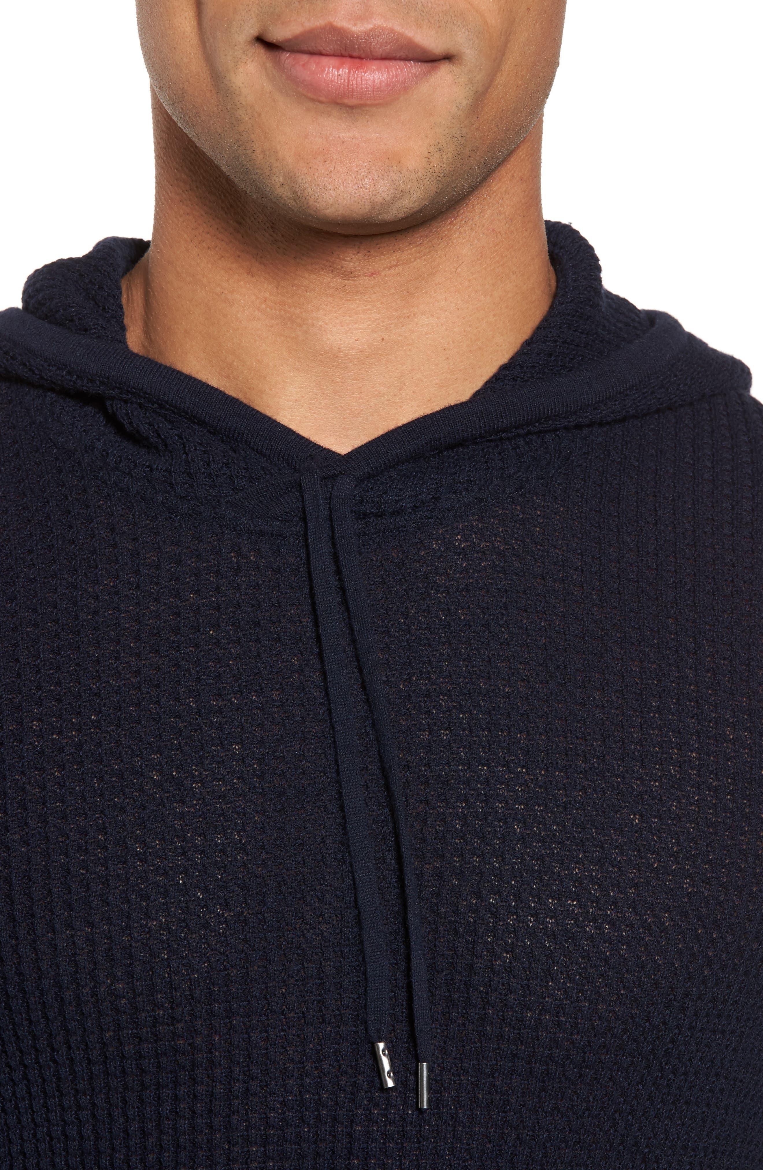 Thermal Pullover Hoodie,                             Alternate thumbnail 4, color,                             Marine