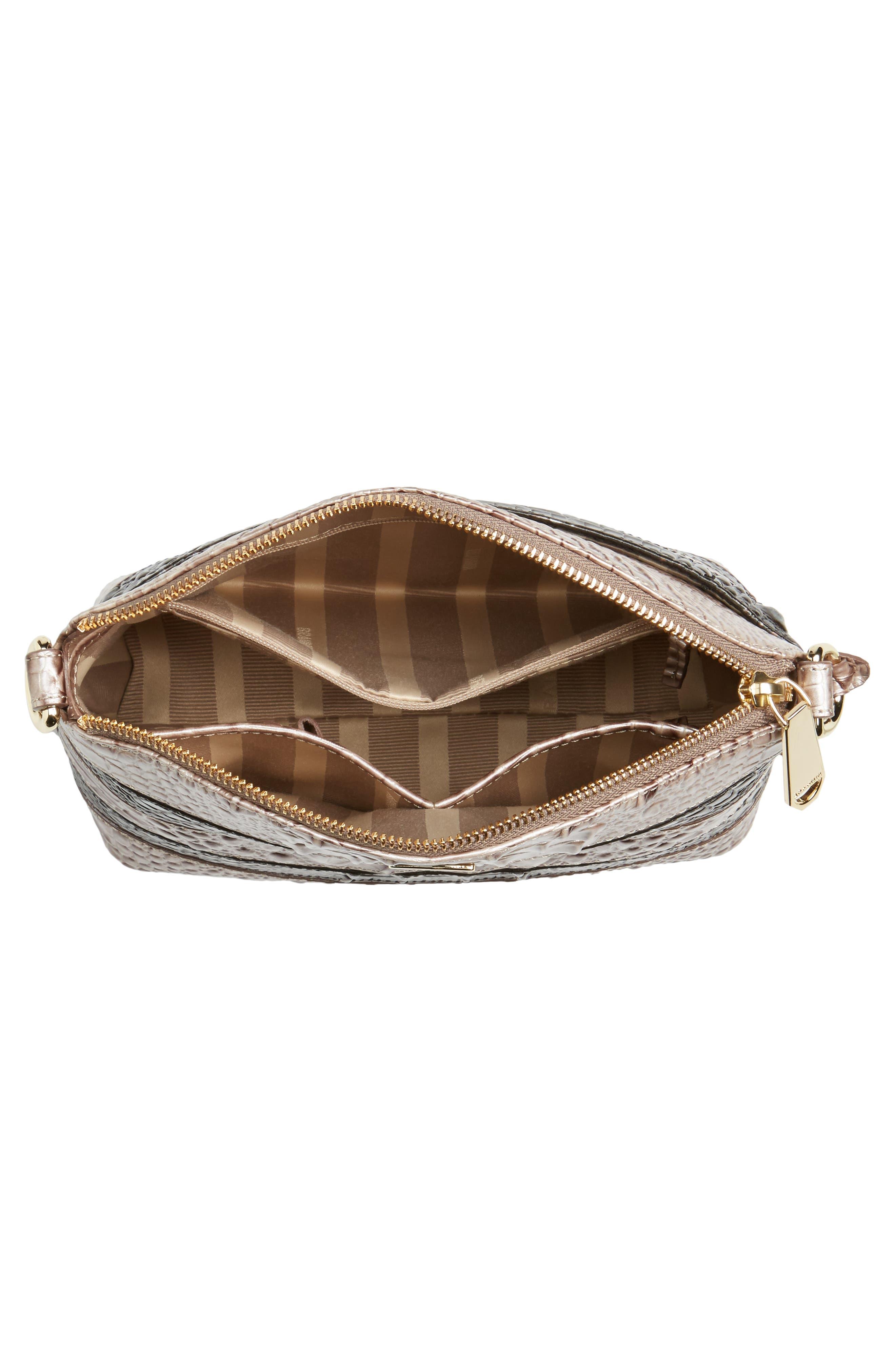 Mini Duxbury Leather Crossbody Bag,                             Alternate thumbnail 4, color,                             Chardonnay