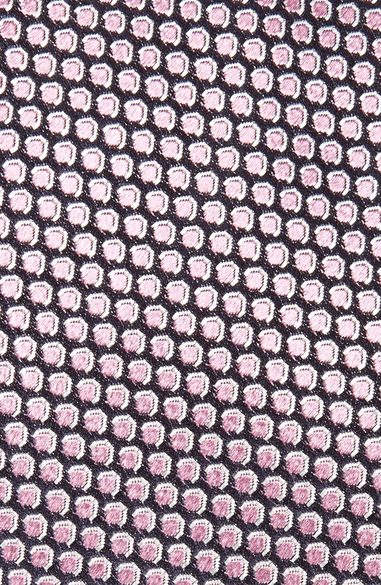 Geometric Silk Tie,                             Alternate thumbnail 2, color,                             Pink