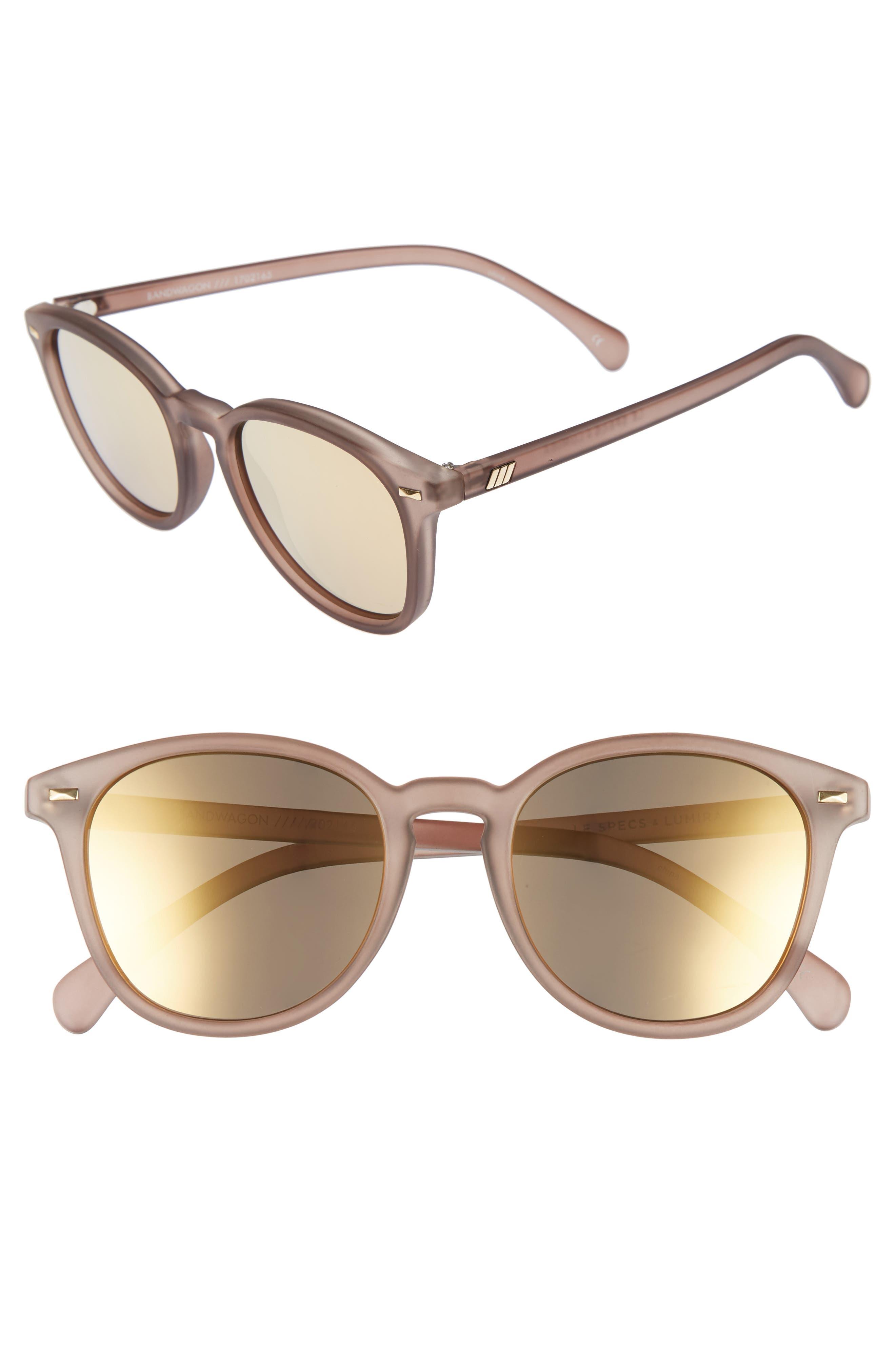 Main Image - Le Specs x Lumira Bandwagon 51mm Sunglasses & Candle Gift Set