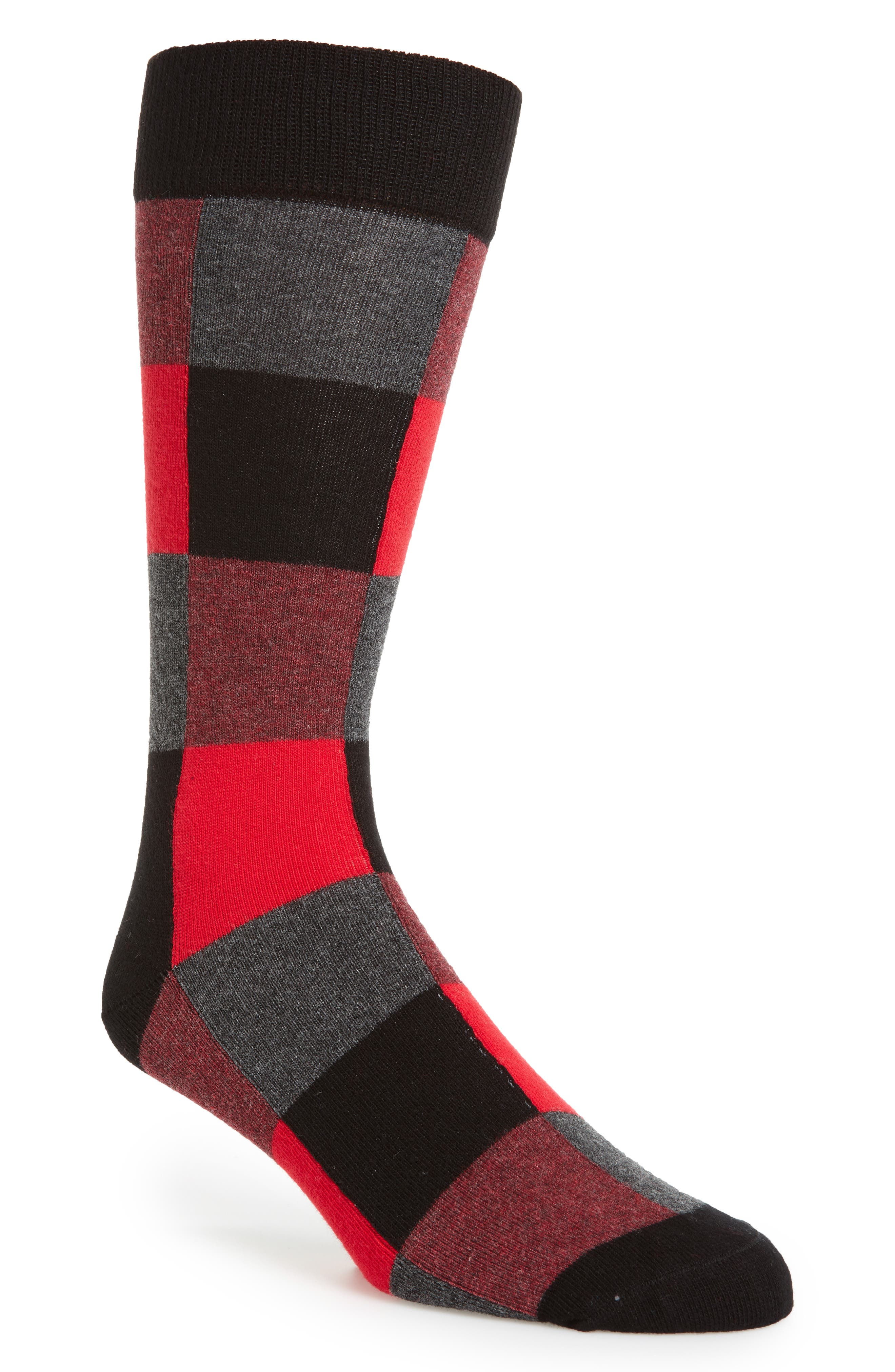 Main Image - Happy Socks Check Socks (3 for $30)