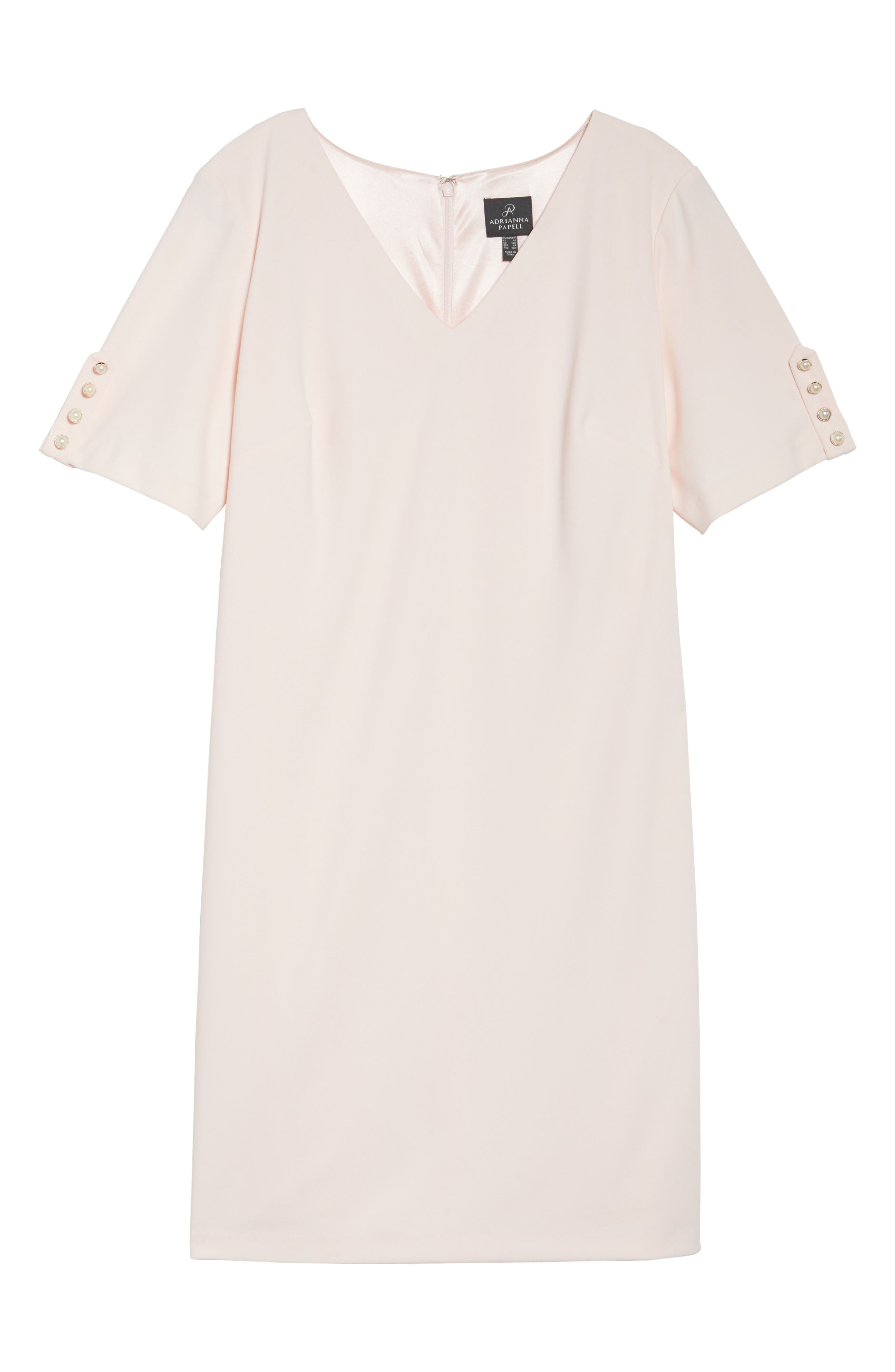 Alternate Image 6  - Adrianna Papell Button Sleeve Shift Dress (Plus Size)