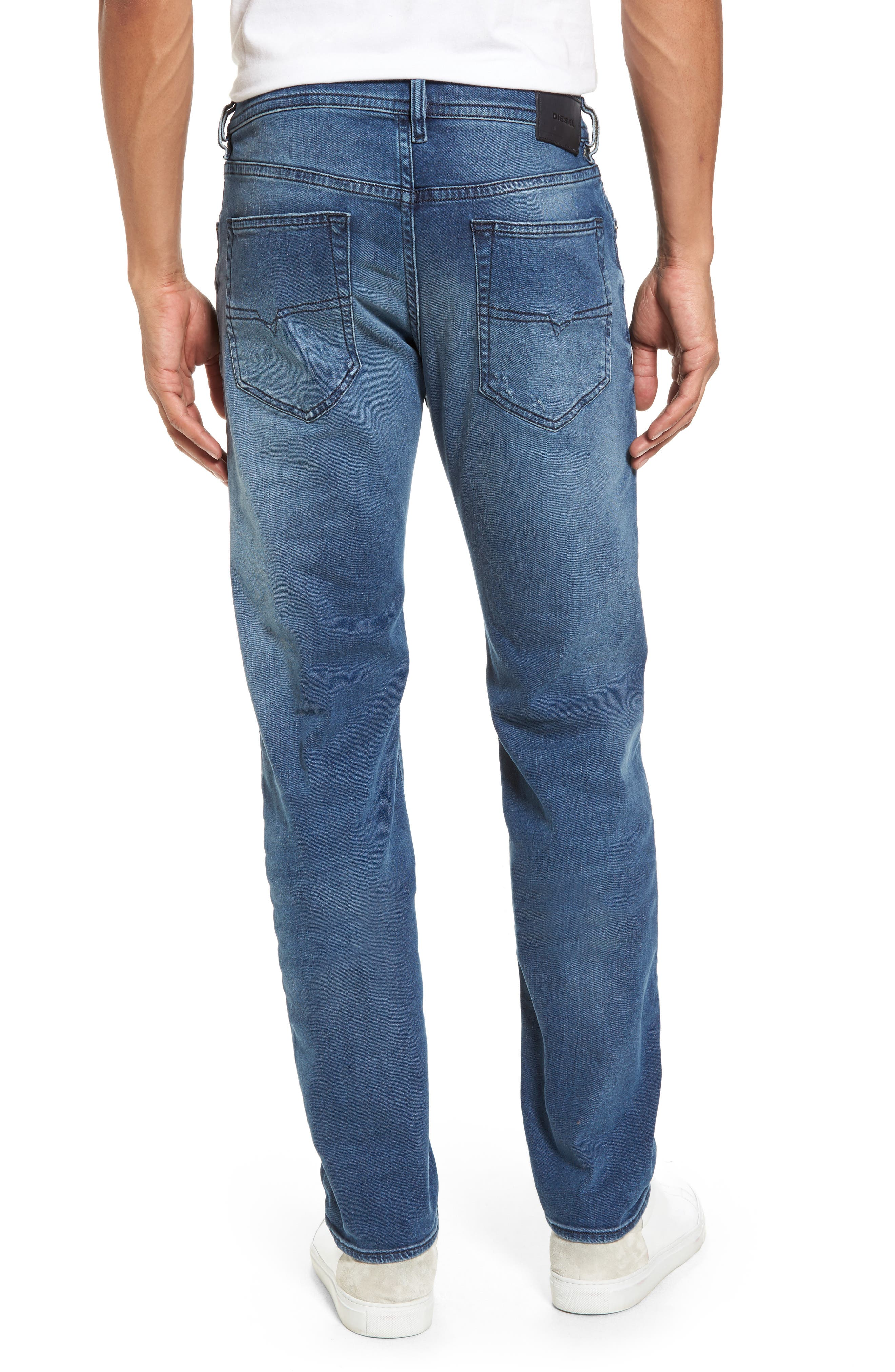 Buster Slim Straight Fit Jeans,                             Alternate thumbnail 2, color,                             Denim