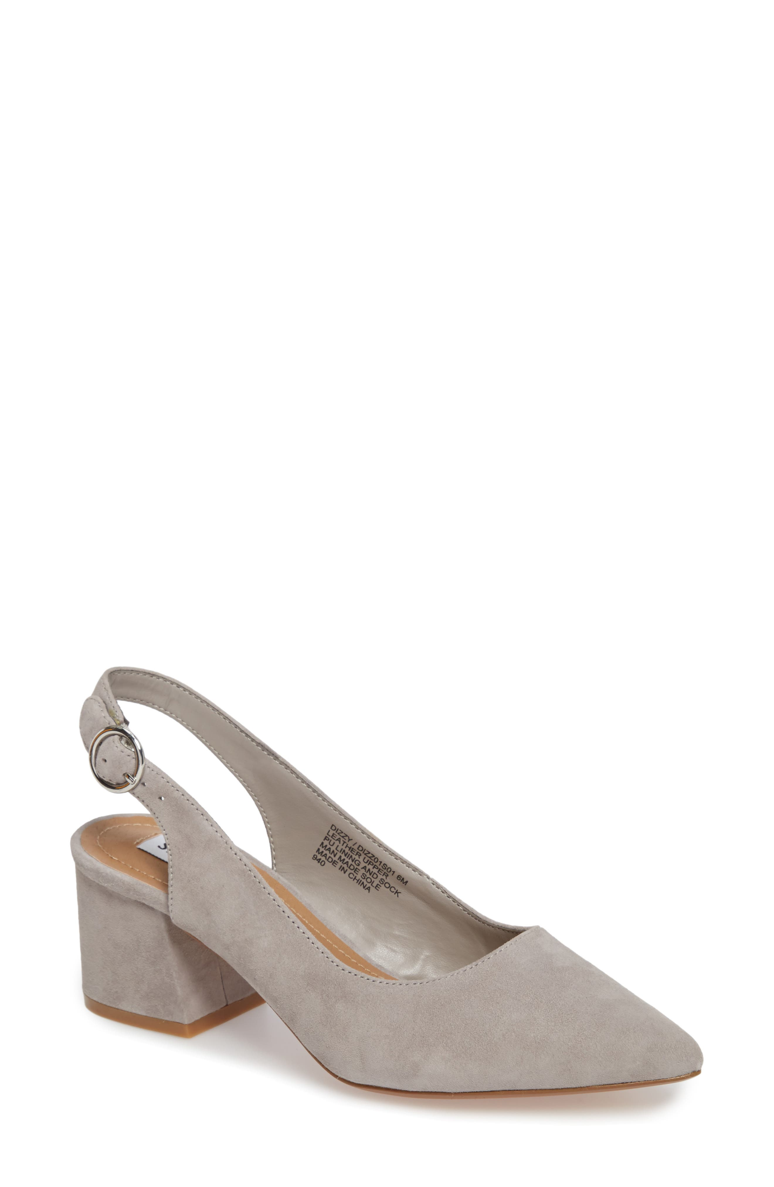 Dizzy Slingback Pump,                         Main,                         color, Grey Suede