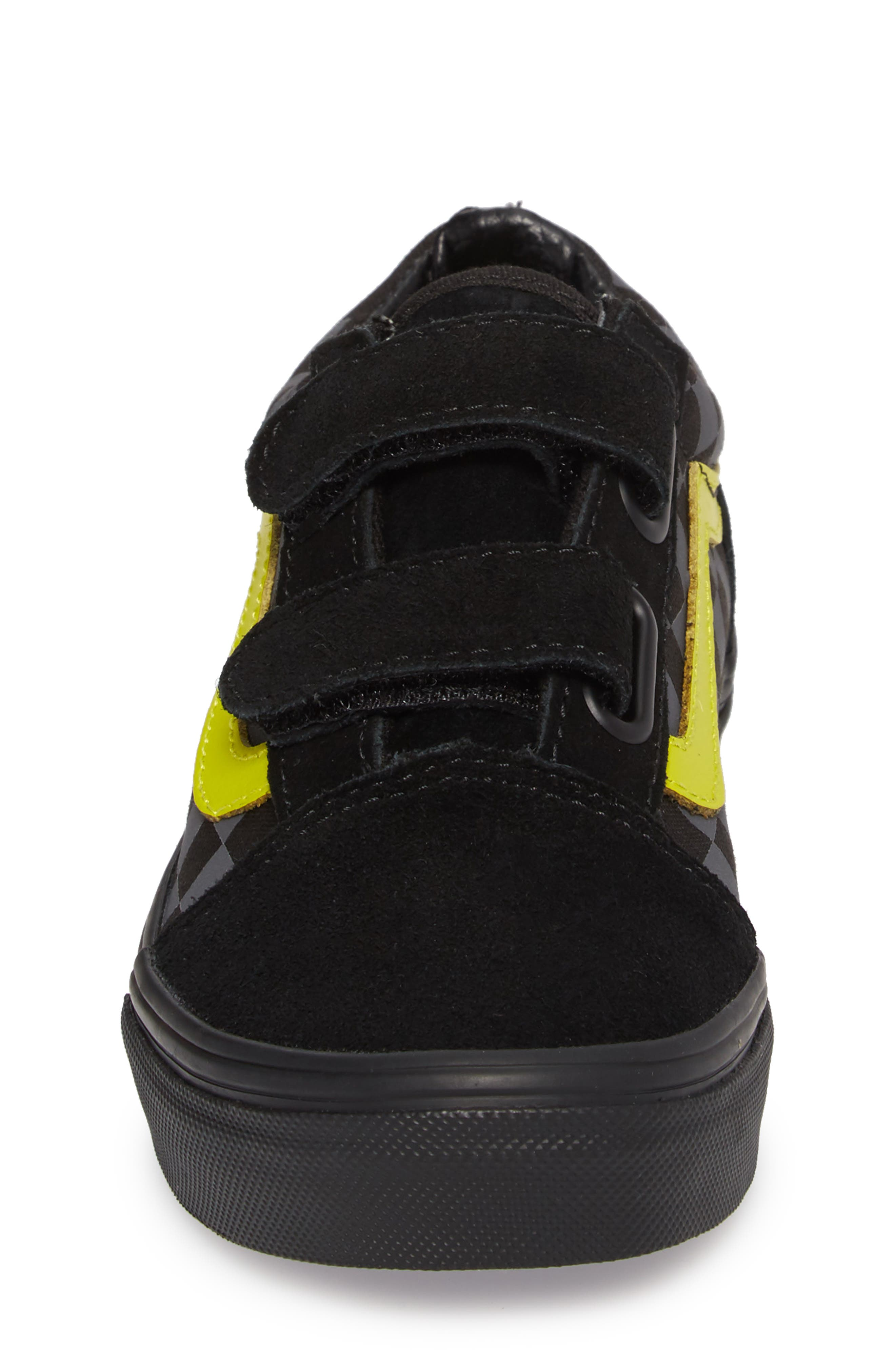Alternate Image 4  - Vans Reflective Checkerboard Old Skool V Sneaker (Baby, Walker, Toddler, Little Kid & Big Kid)