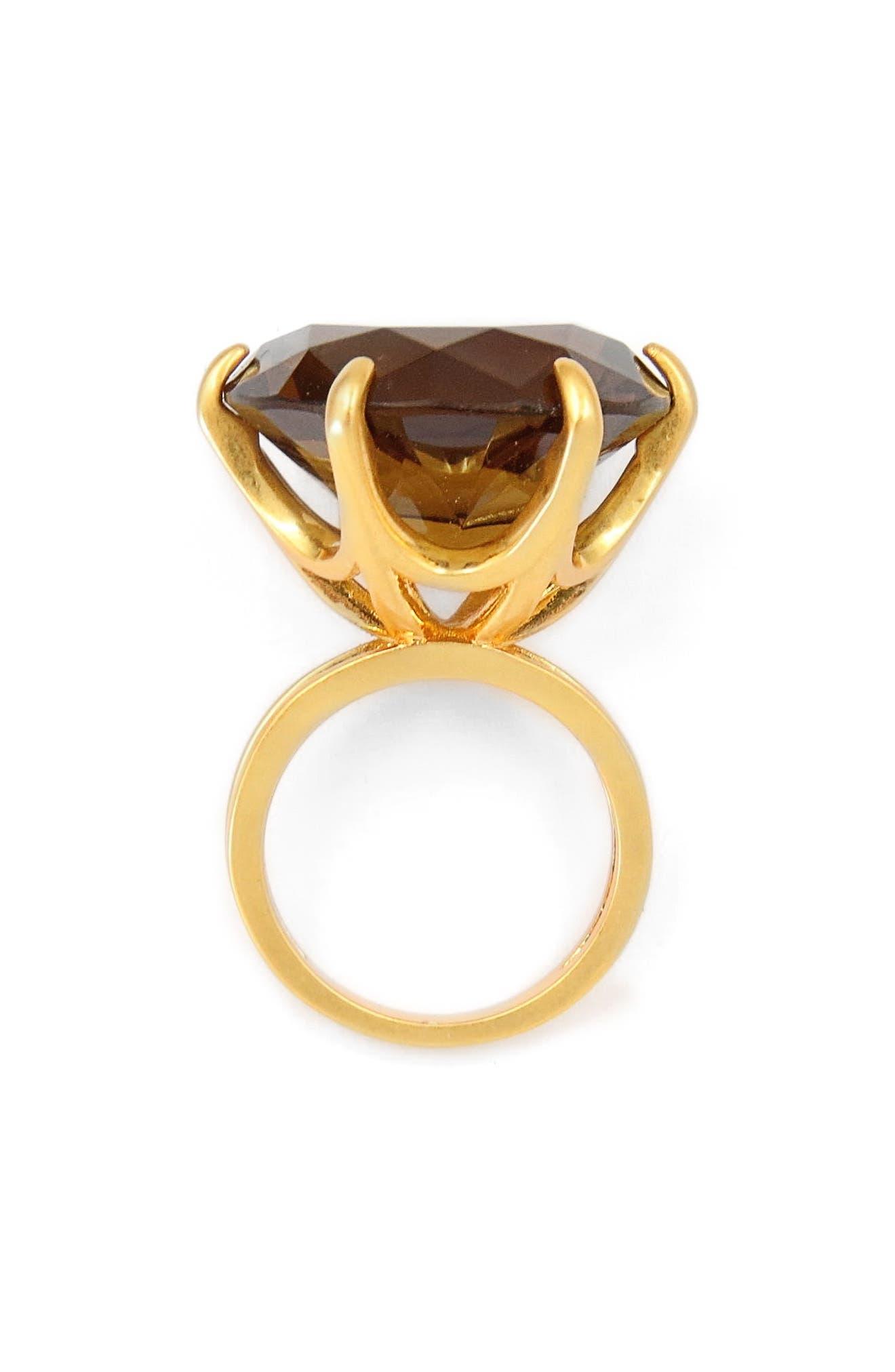 Smoky Cocktail Ring,                             Main thumbnail 1, color,                             Gold