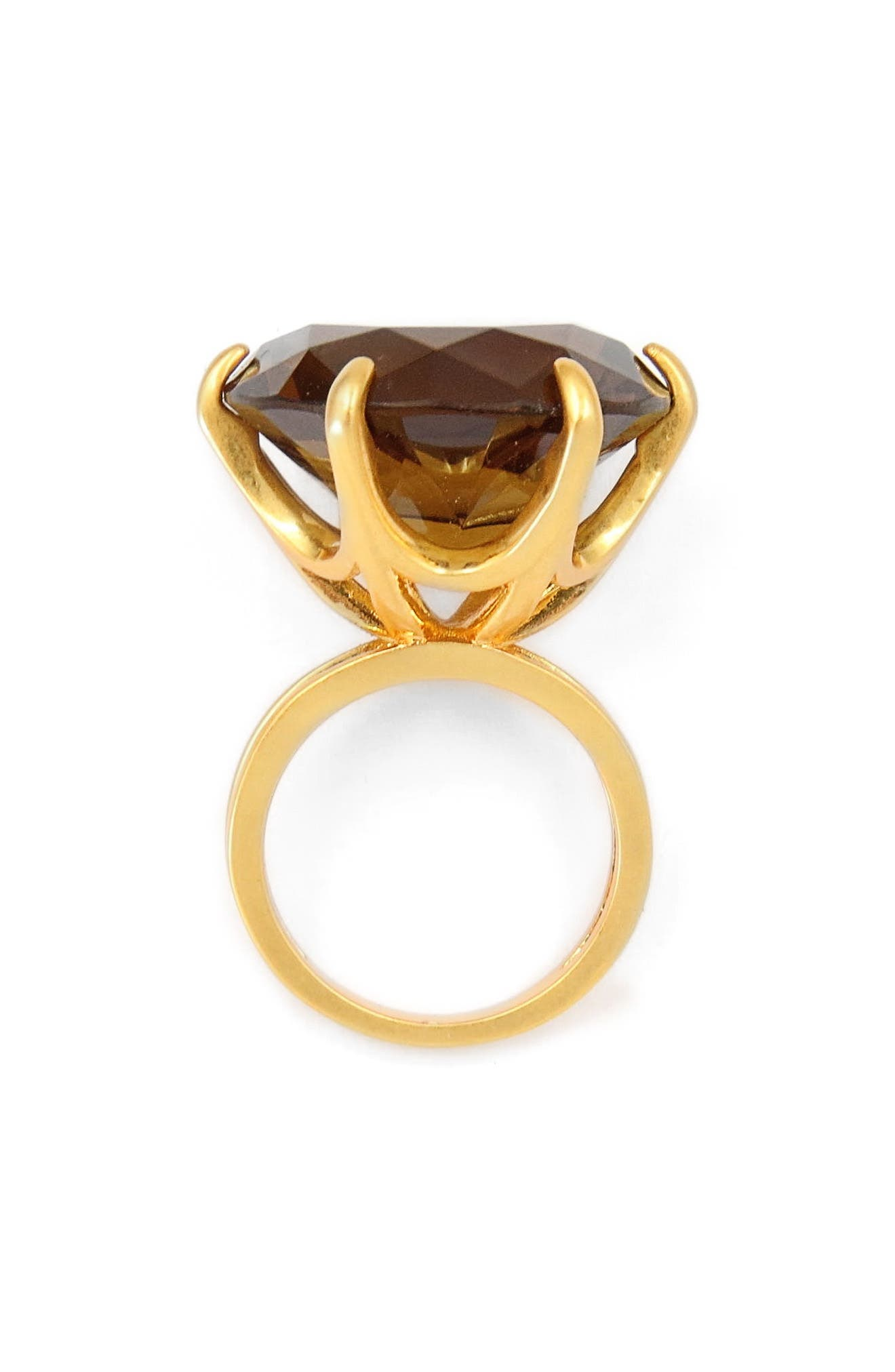 Smoky Cocktail Ring,                         Main,                         color, Gold