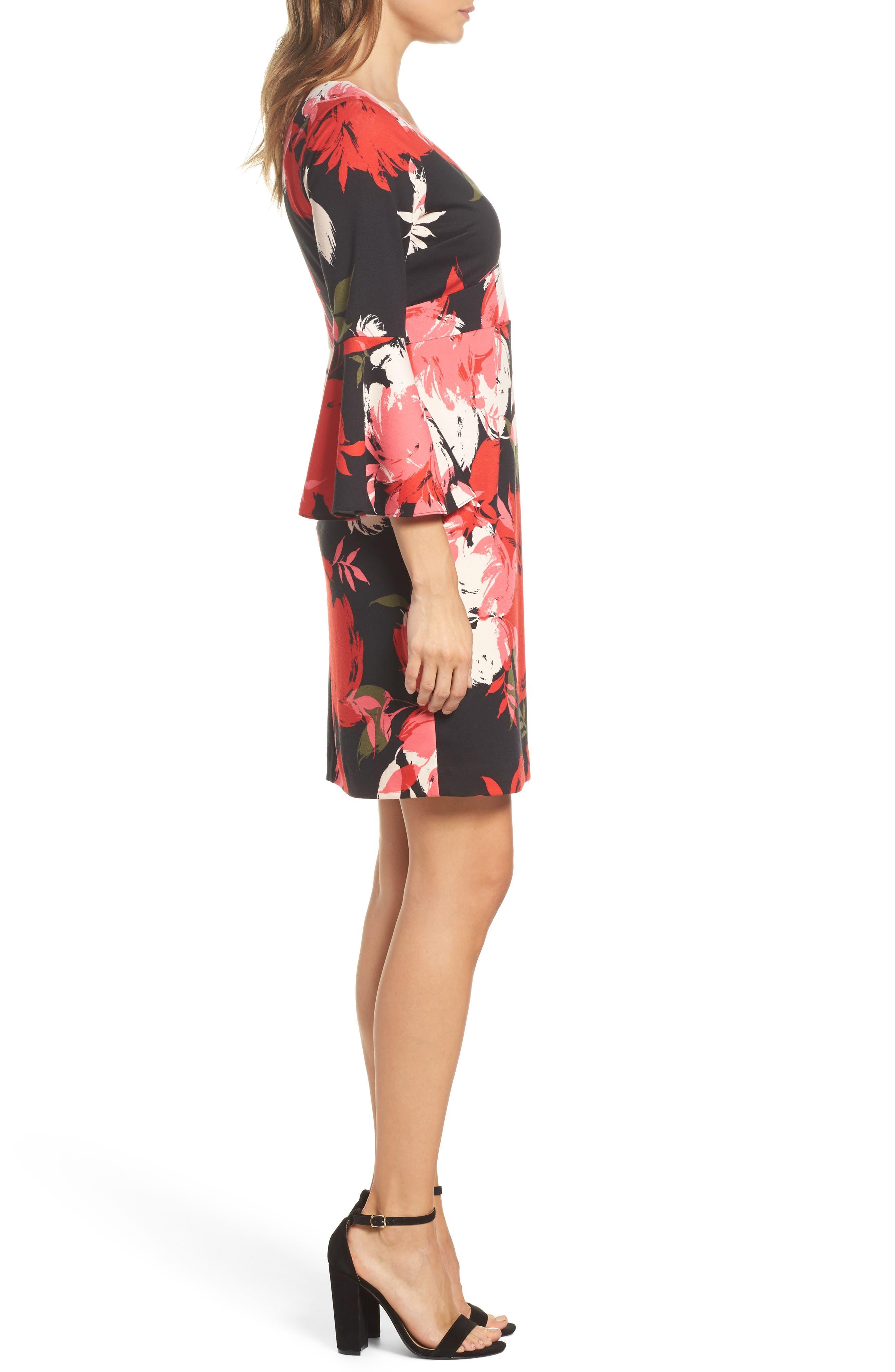 Sena A-Line Dress,                             Alternate thumbnail 3, color,                             Multi
