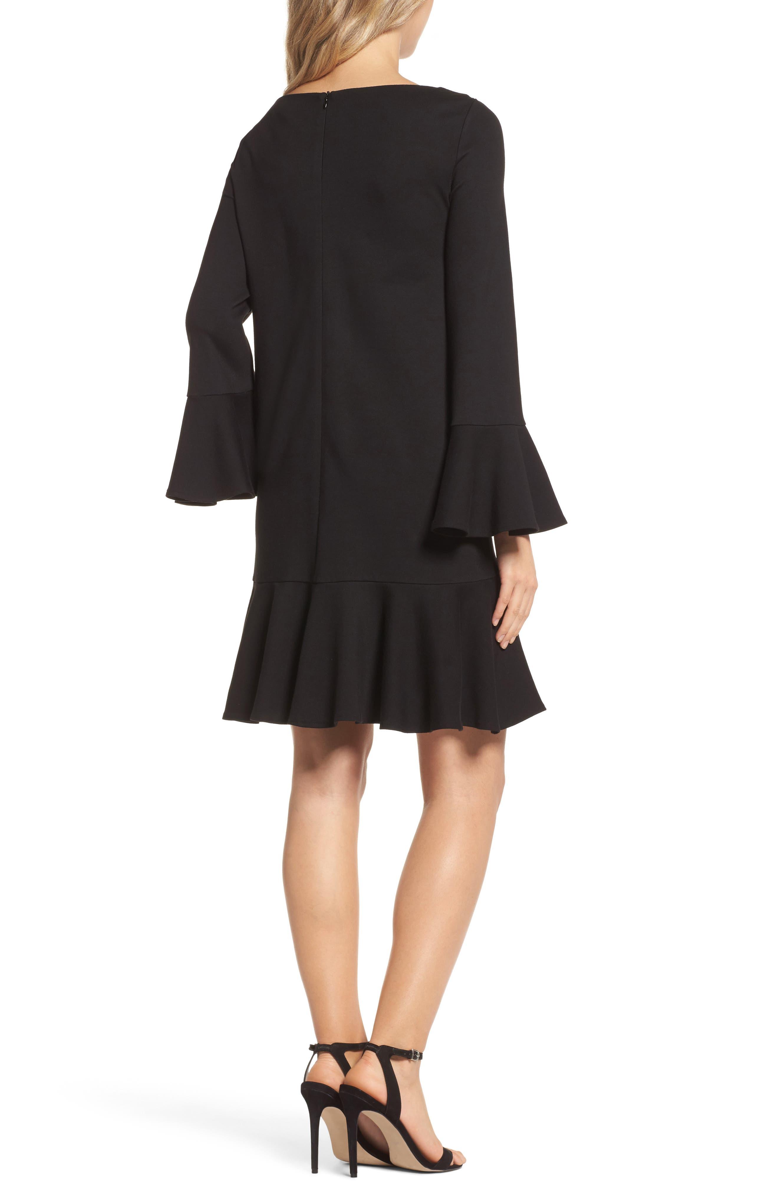Matuku Lula Bell Sleeve Dress,                             Alternate thumbnail 2, color,                             Black