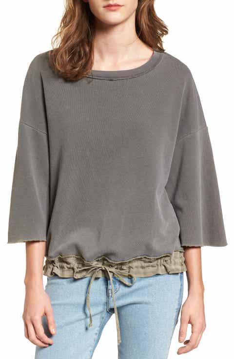 Stateside Crop Terry Sweatshirt