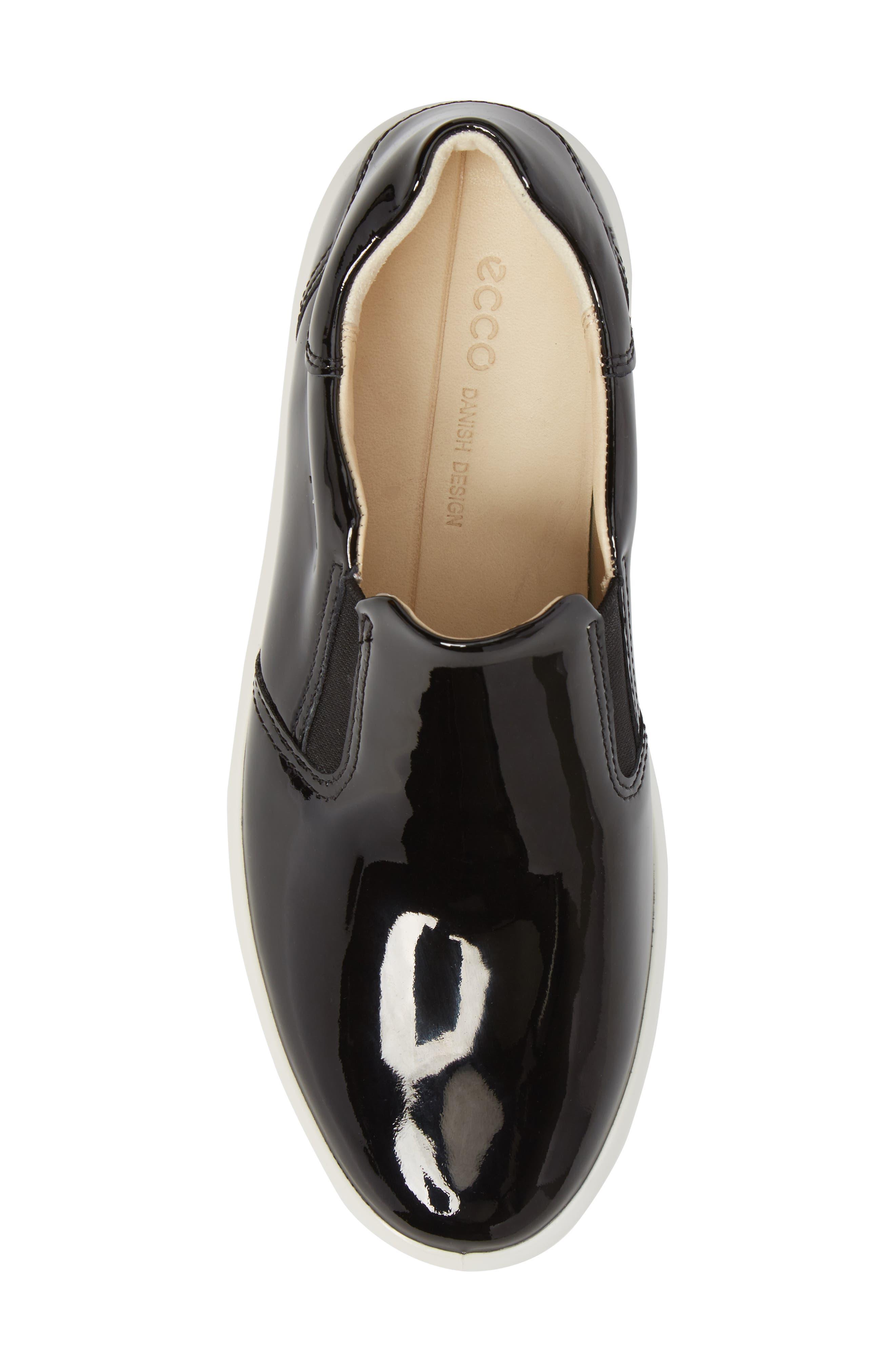 Soft 9 Slip-On Sneaker,                             Alternate thumbnail 5, color,                             Black Patent Leather