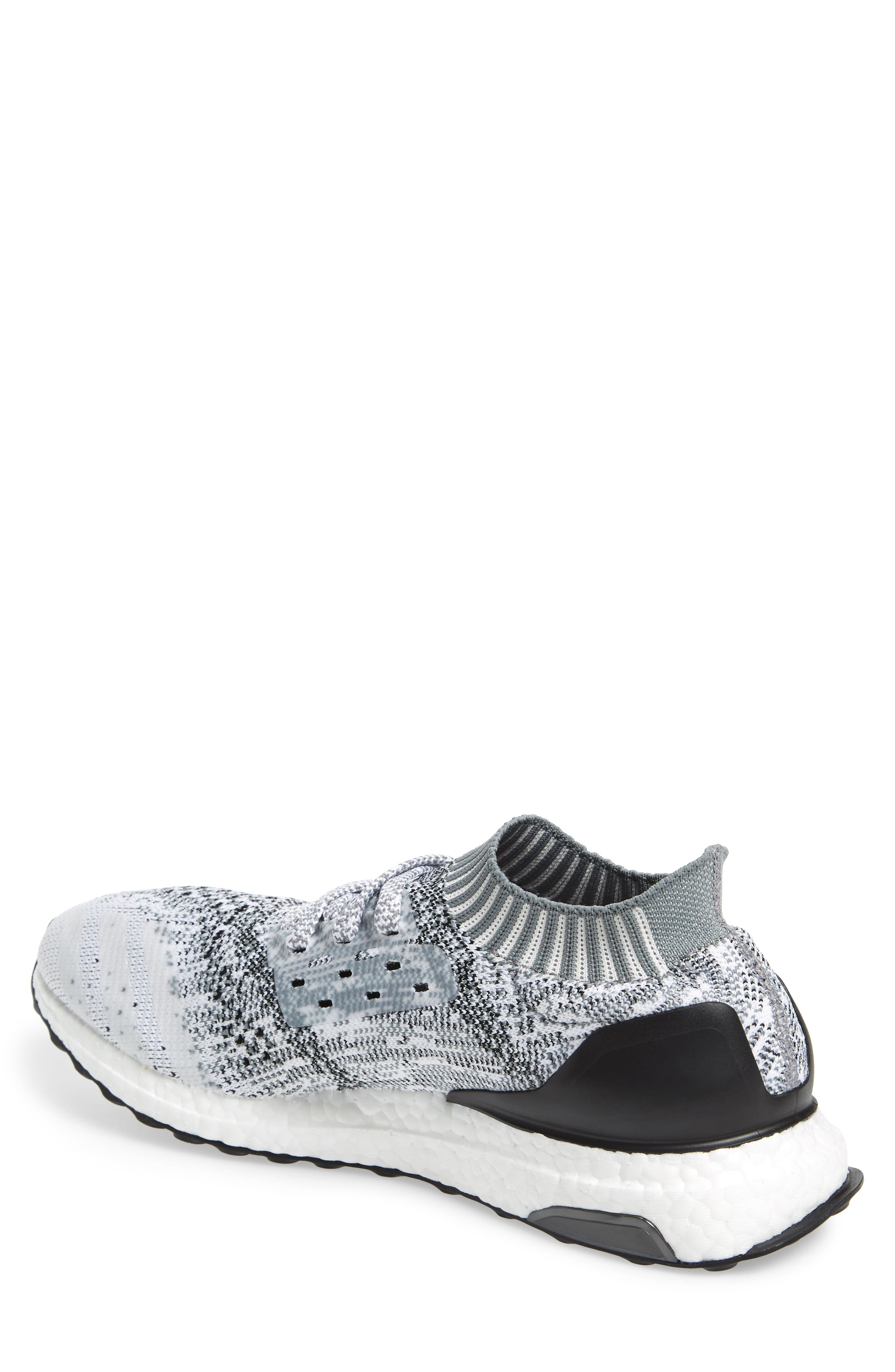 'UltraBoost Uncaged' Running Shoe,                             Alternate thumbnail 2, color,                             White/ White/ Grey