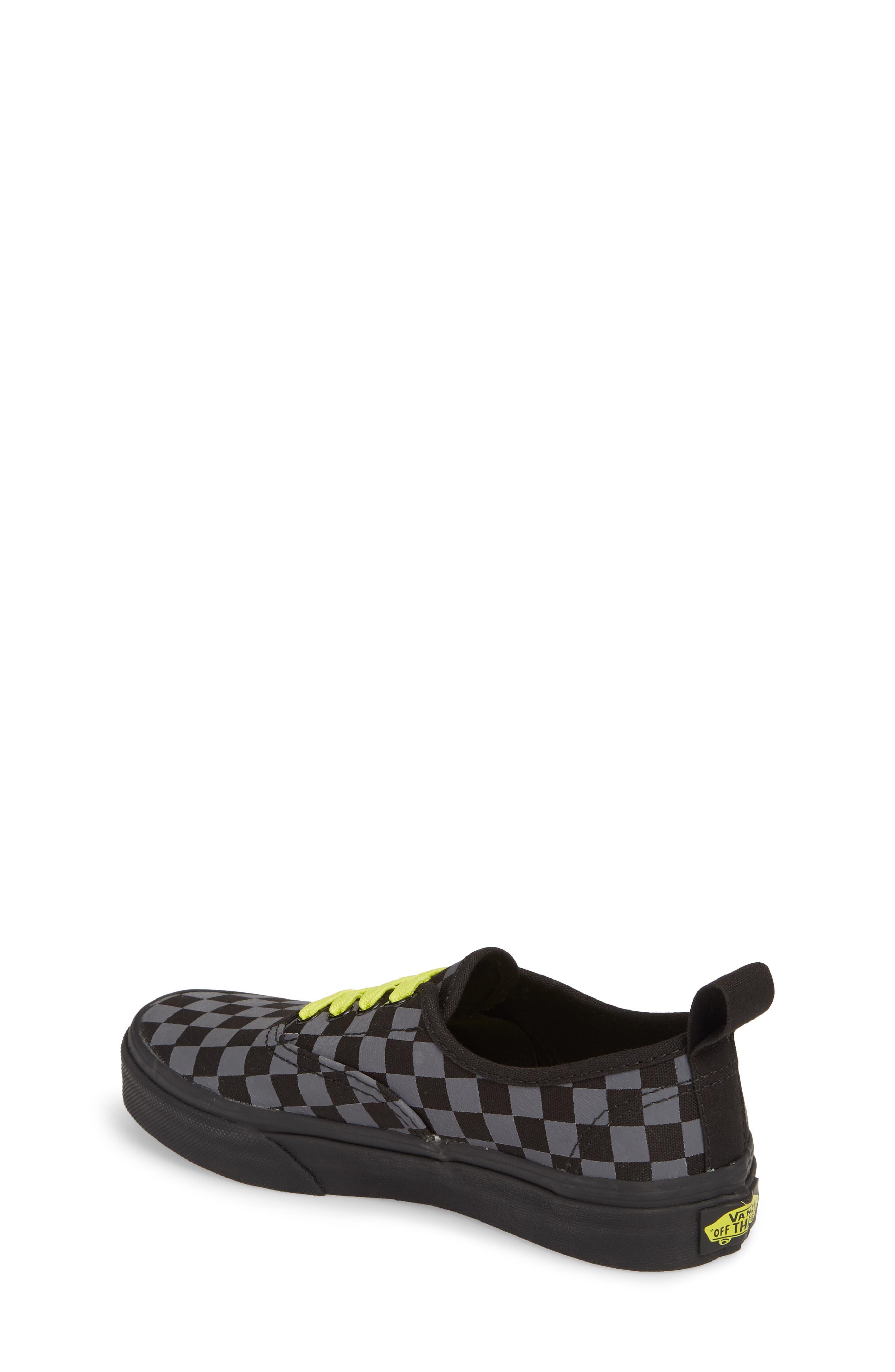 Reflective Checkerboard Authentic Sneaker,                             Alternate thumbnail 2, color,                             Asphalt/ Reflective