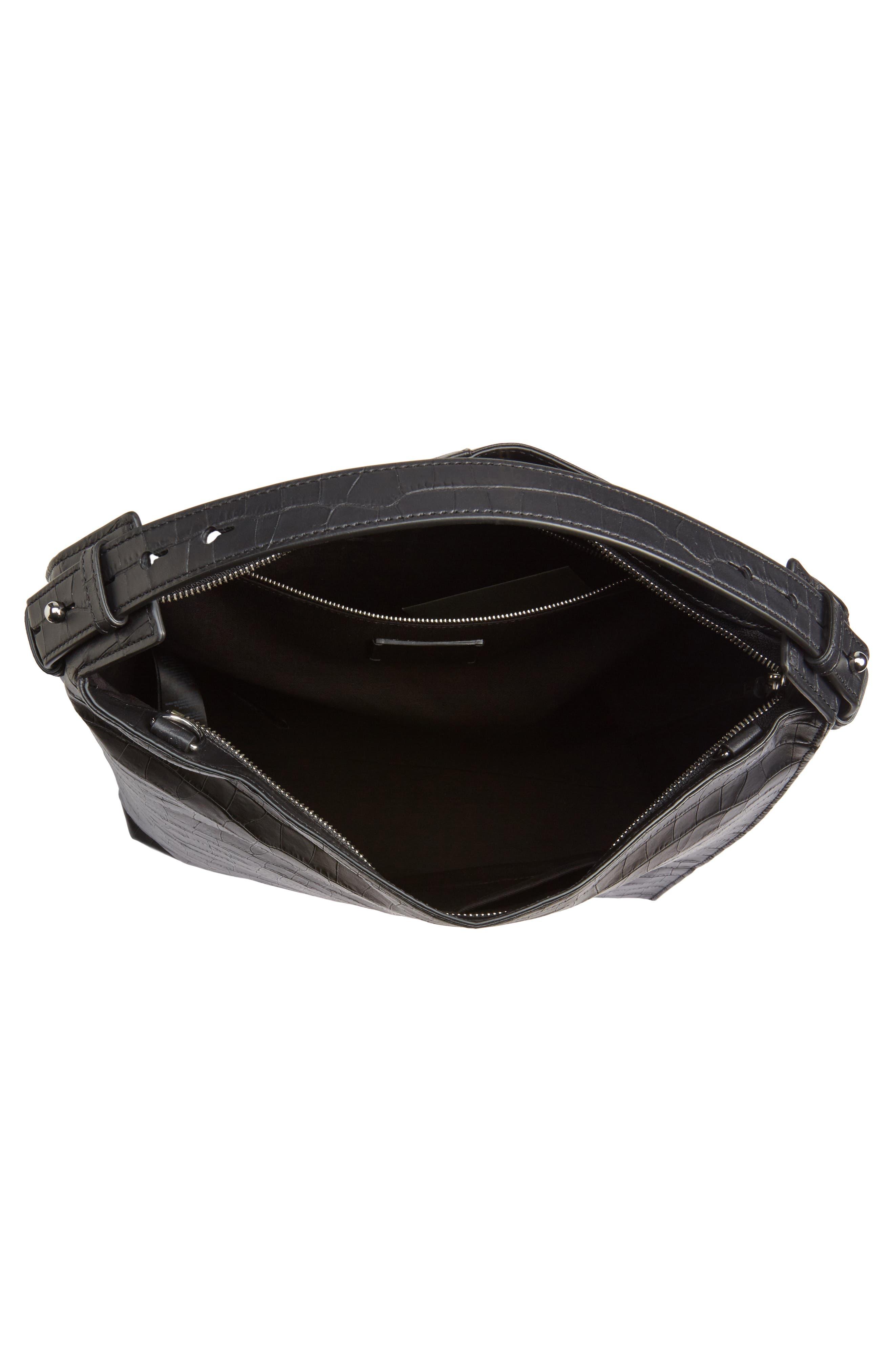 Atlas Convertible Leather Backpack,                             Alternate thumbnail 4, color,                             Black