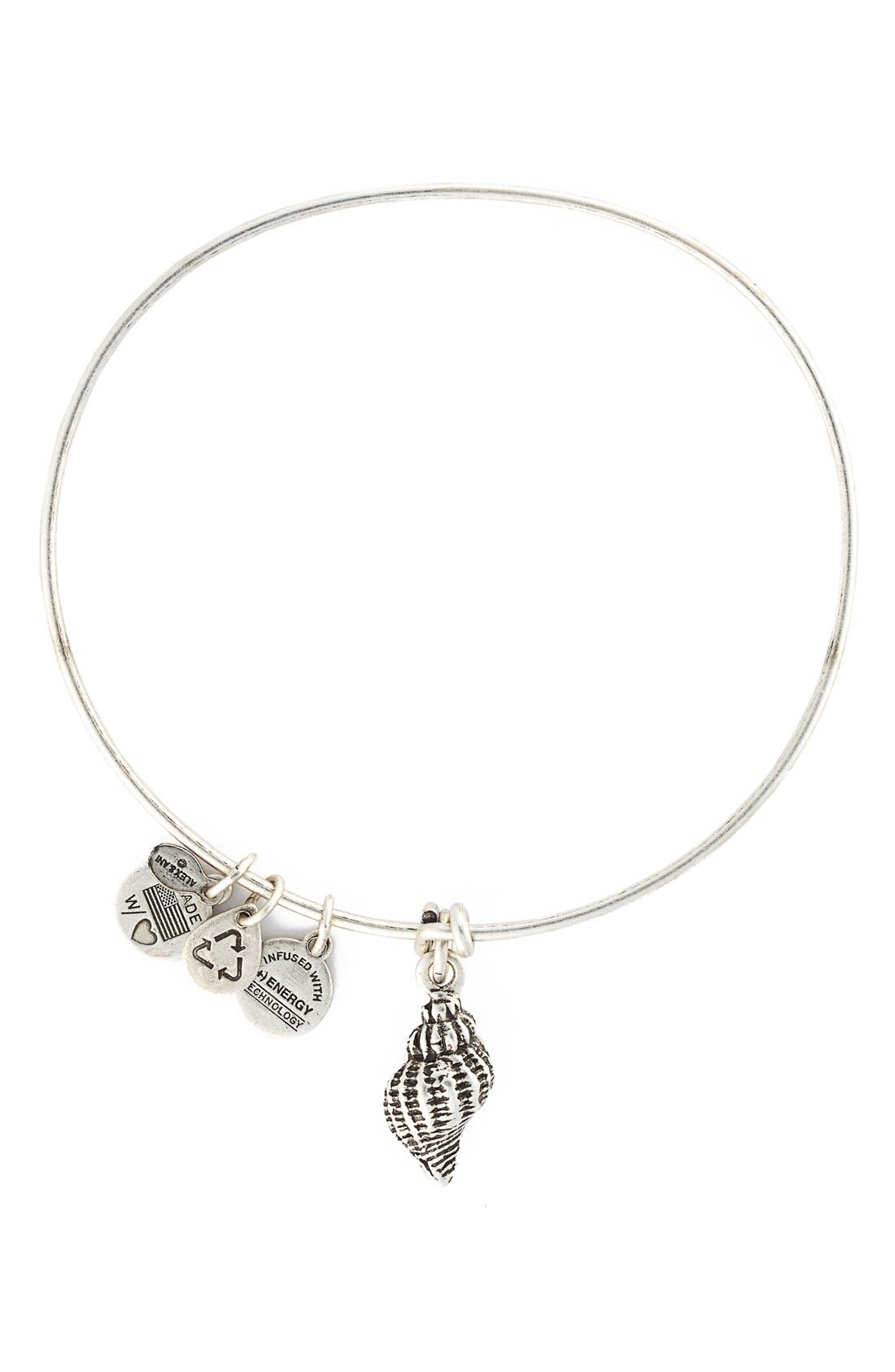 Main Image - Alex and Ani Conch Shell Expandable Wire Bangle