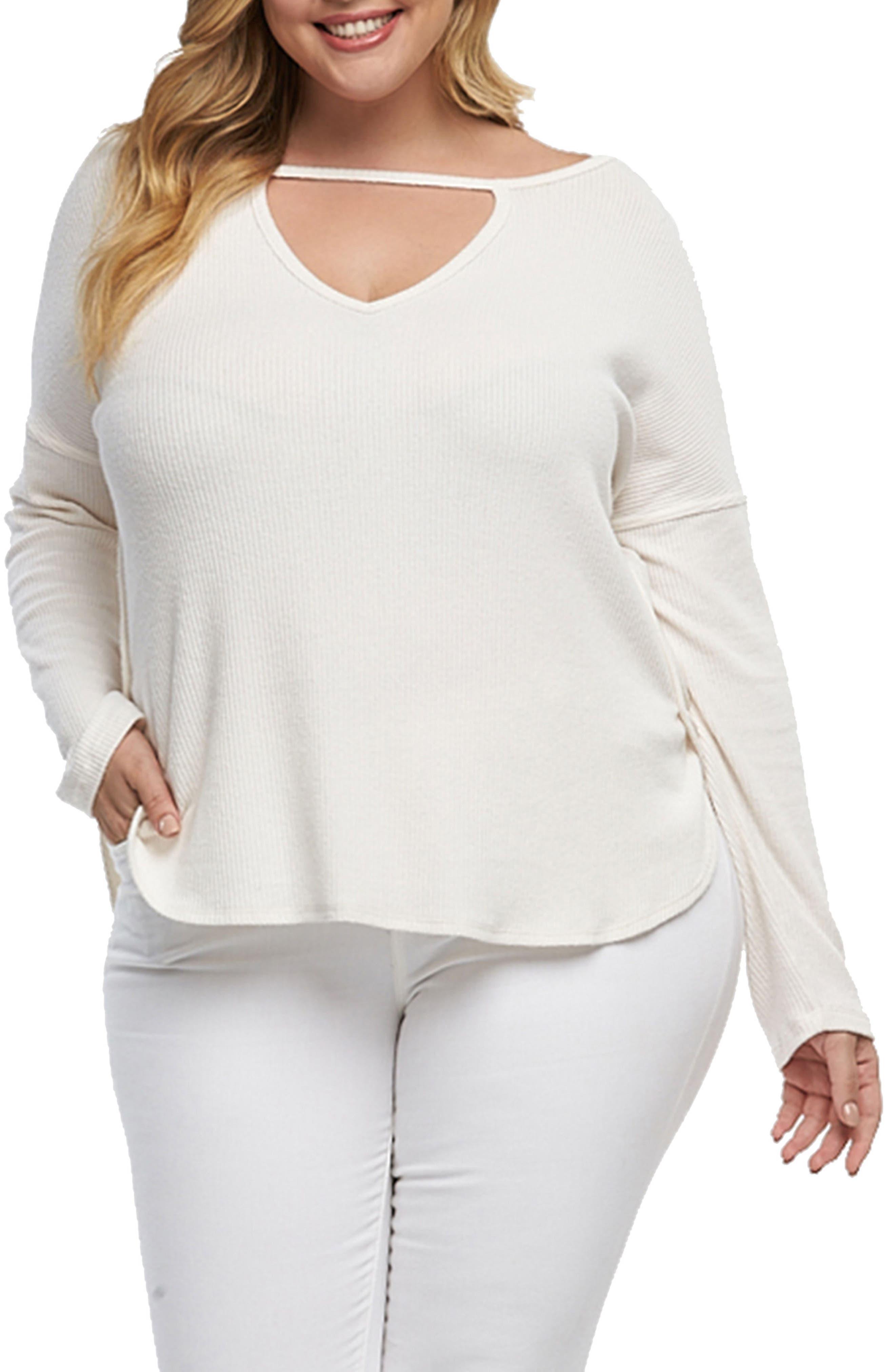 Tart Trinity V-Neck Pullover (Plus Size)