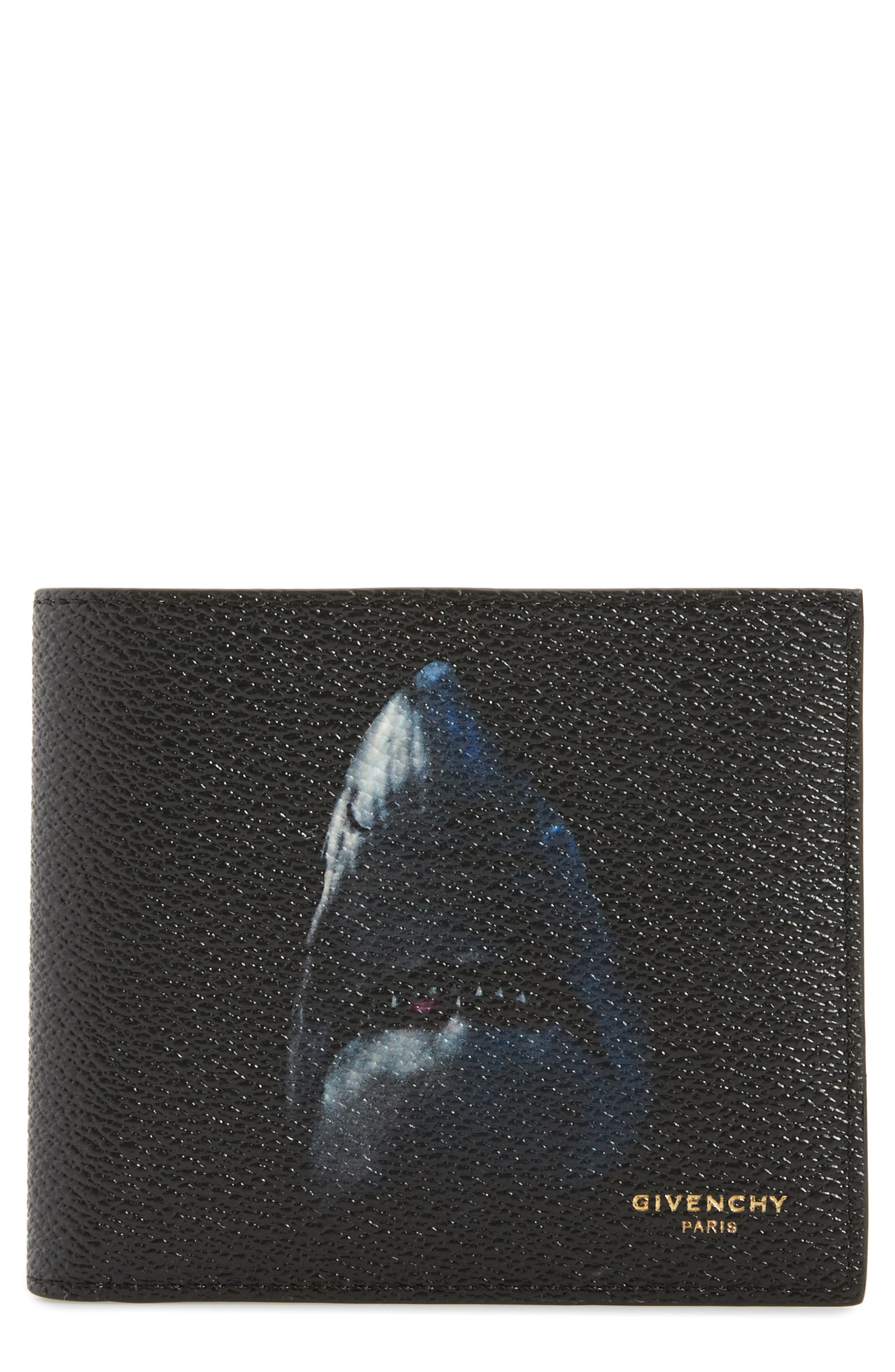 Givenchy Shark Print Faux Leather Wallet